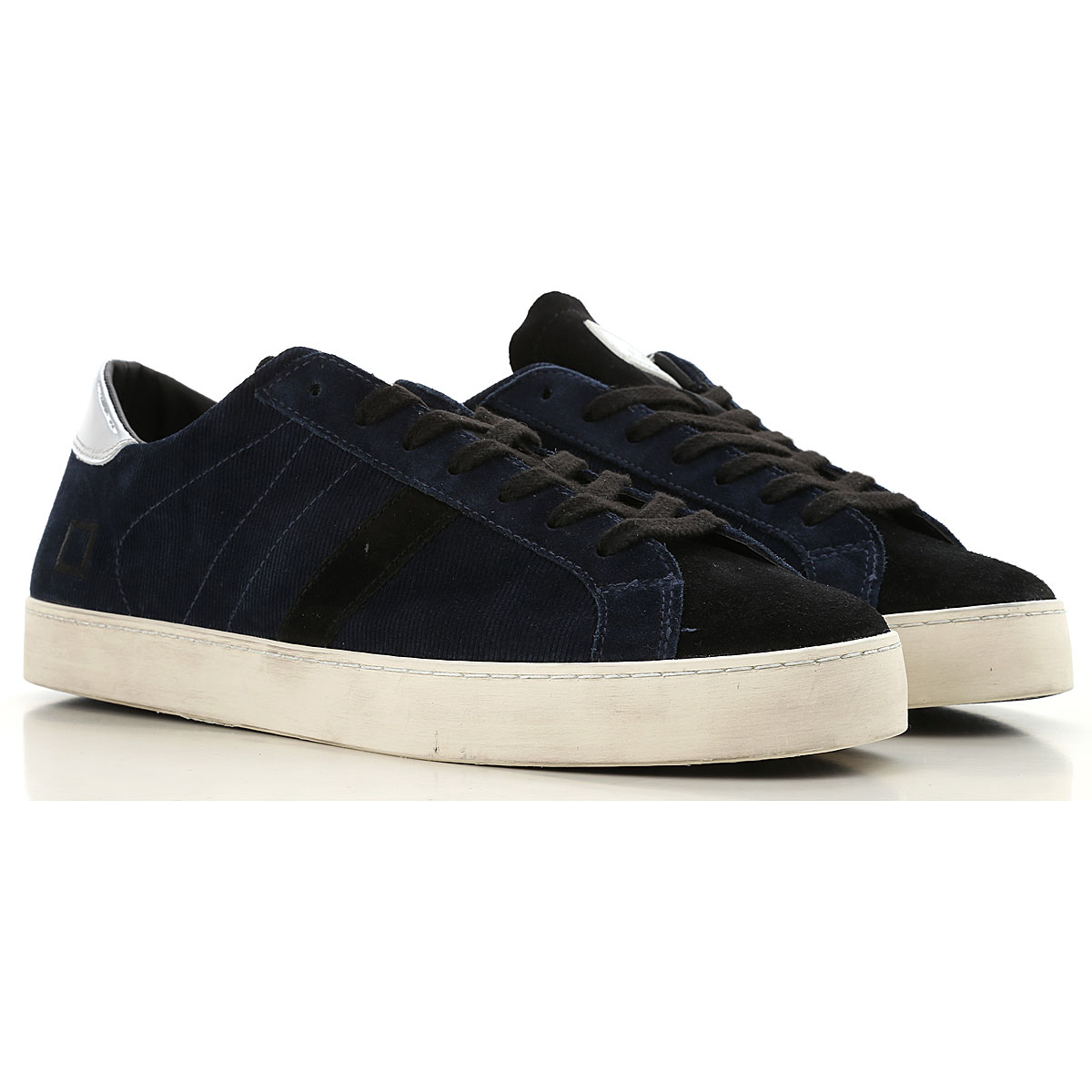 D.A.T.E. Sneakers for Men On Sale, Night Blue, Leather, 2019, 7