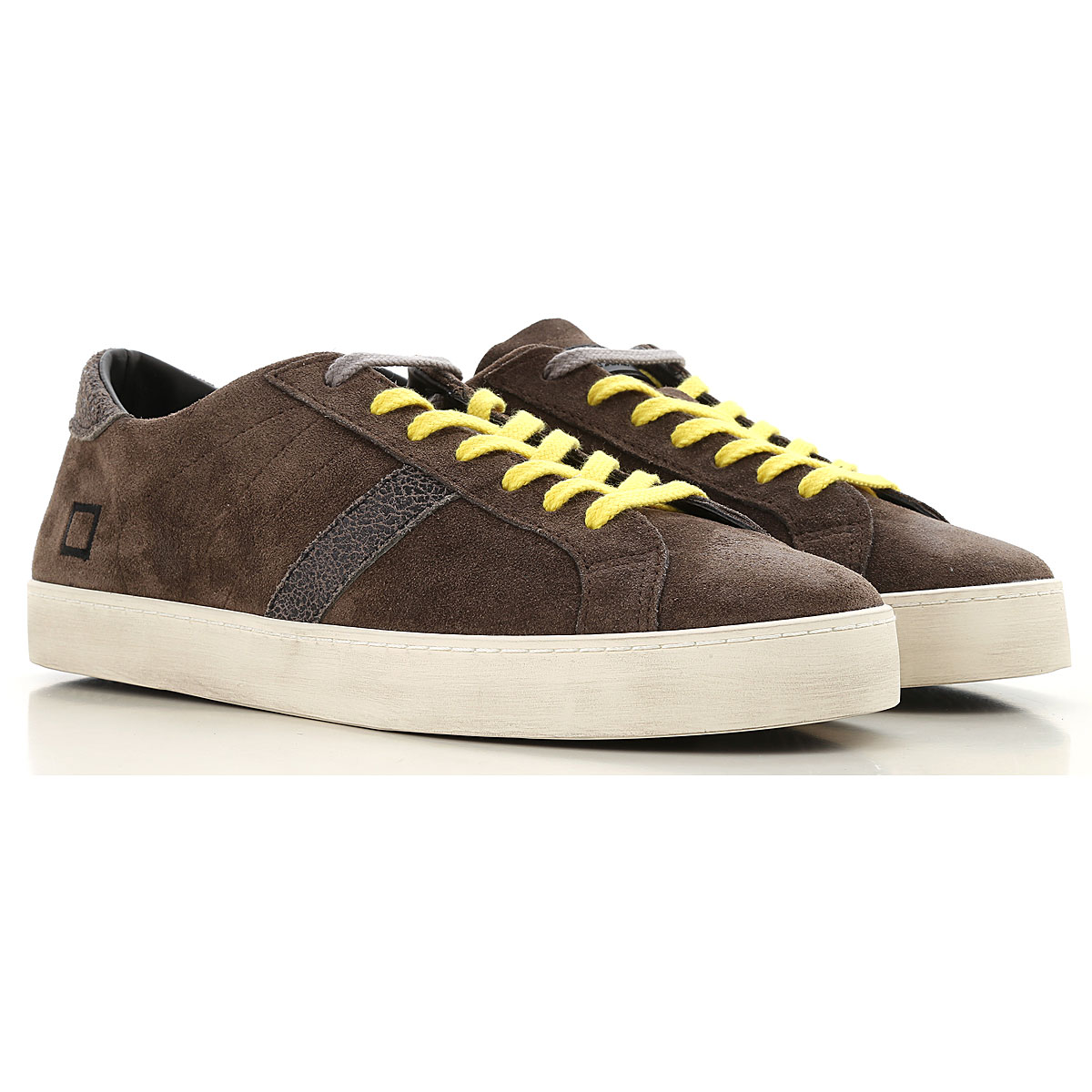 D.A.T.E. Sneakers for Men On Sale, Mud, Leather, 2019, 7