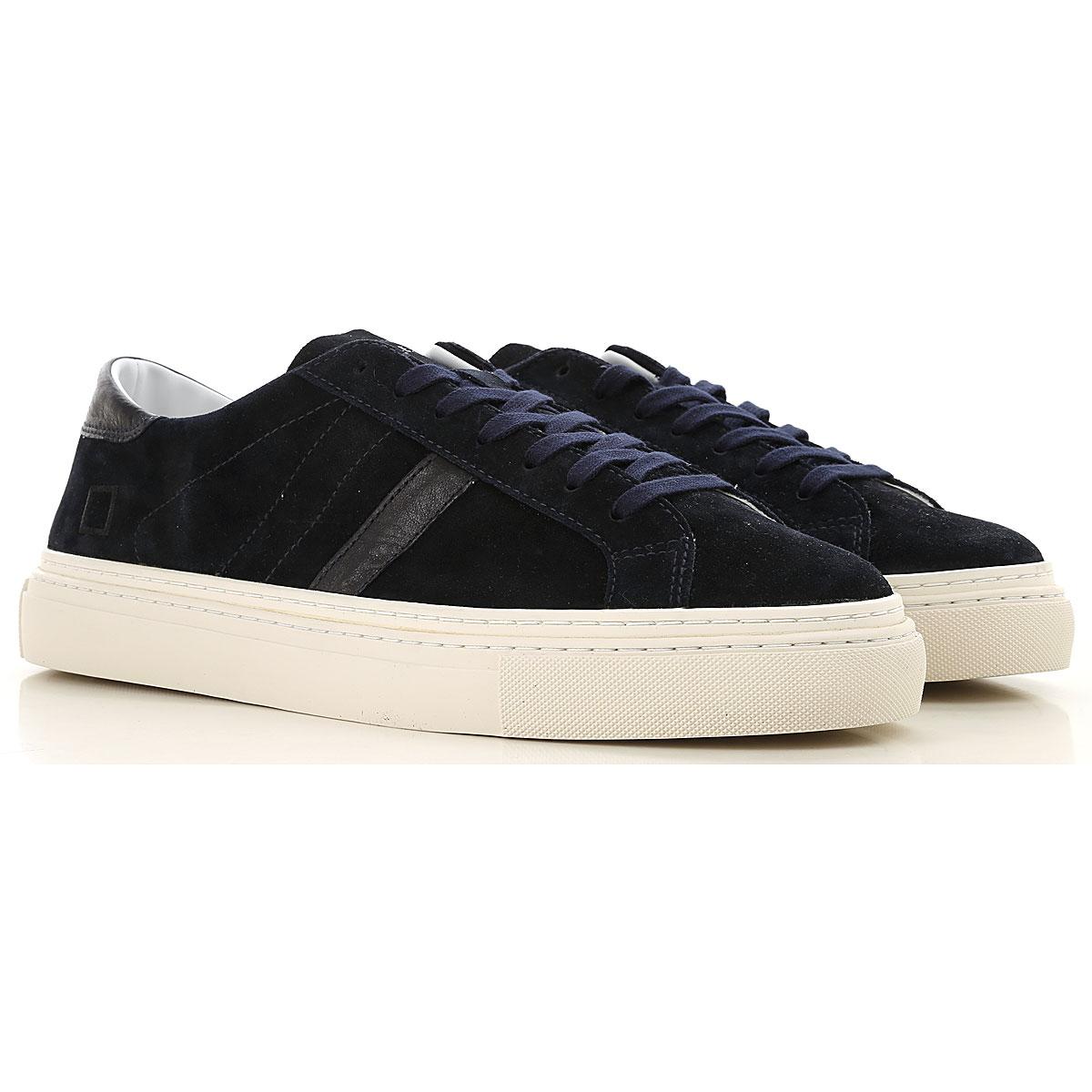 Image of D.A.T.E. Sneakers for Men, Blue, suede, 2017, US 7 - EU 40 - UK 6 - JP 26 US 8 - EU 41 - UK 7 - JP 26.5 US 9 - EU 42 - UK 8 - JP 27 US 10 - EU 43 - UK 9 - JP 27.5 US 11 - EU 44 - UK 10 - JP 28