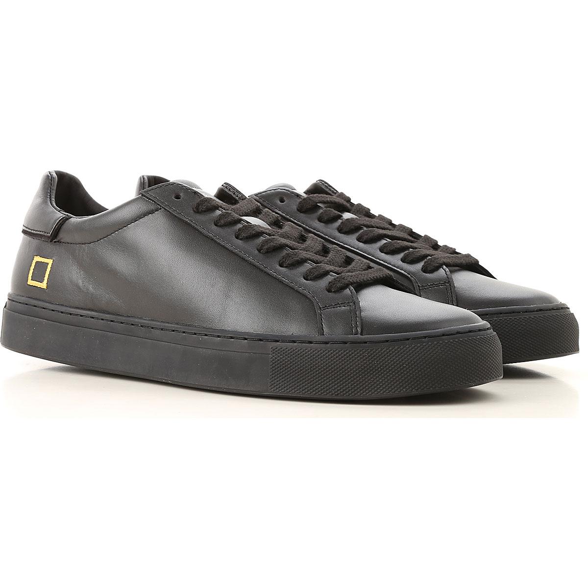 Image of D.A.T.E. Sneakers for Men, Black, Leather, 2017, US 8 - EU 41 - UK 7 - JP 26.5 US 9 - EU 42 - UK 8 - JP 27 US 10 - EU 43 - UK 9 - JP 27.5 US 11 - EU 44 - UK 10 - JP 28 US 12 - EU 45 - UK 11 - JP 28.5