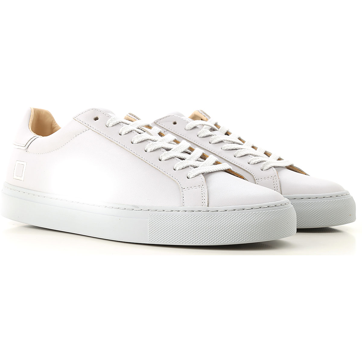 Image of D.A.T.E. Sneakers for Men, Pearl Grey, Leather, 2017, US 8 - EU 41 - UK 7 - JP 26.5 US 9 - EU 42 - UK 8 - JP 27 US 10 - EU 43 - UK 9 - JP 27.5 US 11 - EU 44 - UK 10 - JP 28 US 12 - EU 45 - UK 11 - JP 28.5