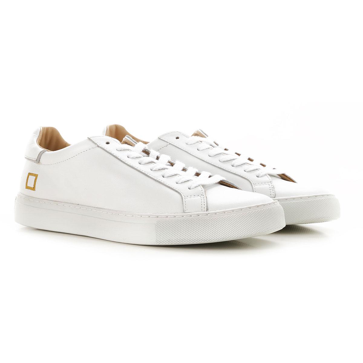 Image of D.A.T.E. Sneakers for Men, White, Leather, 2017, US 8 - EU 41 - UK 7 - JP 26.5 US 9 - EU 42 - UK 8 - JP 27 US 10 - EU 43 - UK 9 - JP 27.5 US 11 - EU 44 - UK 10 - JP 28 US 12 - EU 45 - UK 11 - JP 28.5
