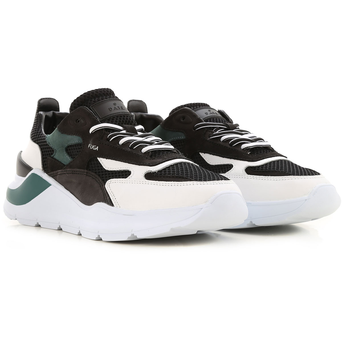 D.A.T.E. Sneakers for Men On Sale, Black, Leather, 2019, US 9 - EU 42 - UK 8 - JP 27 US 10 - EU 43 - UK 9 - JP 27.5 US 11 - EU 44 - UK 10 - JP 28 US 1