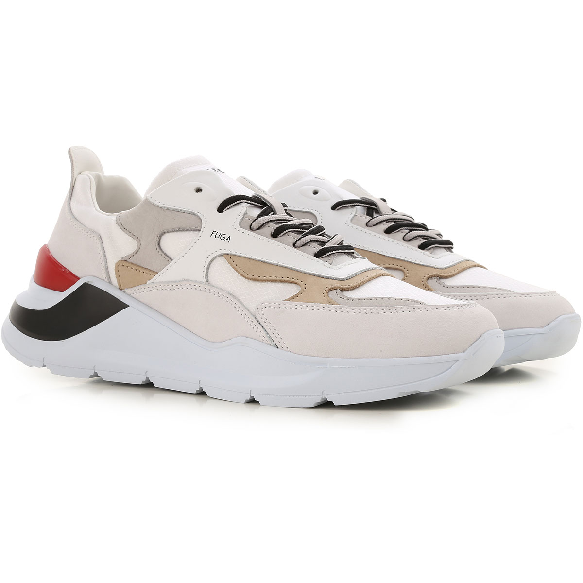 D.A.T.E. Sneakers for Men On Sale, White, Leather, 2019, 8