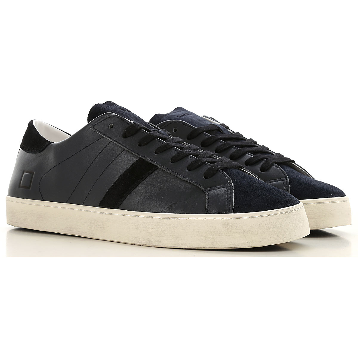 D.A.T.E. Sneakers for Men On Sale, Black, Leather, 2019, 7