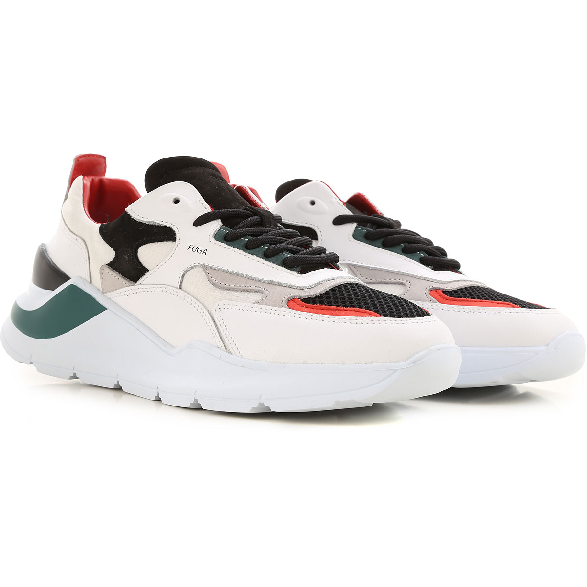 D.A.T.E. Sneakers for Men On Sale, White, Leather, 2019, US 9 - EU 42 - UK 8 - JP 27 US 10 - EU 43 - UK 9 - JP 27.5 US 11 - EU 44 - UK 10 - JP 28 US 1