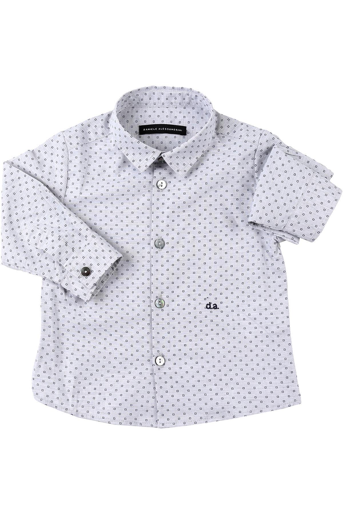 Daniele Alessandrini Baby Shirts for Boys On Sale, Gray, Cotton, 2019, 2Y 3Y 6M 9M