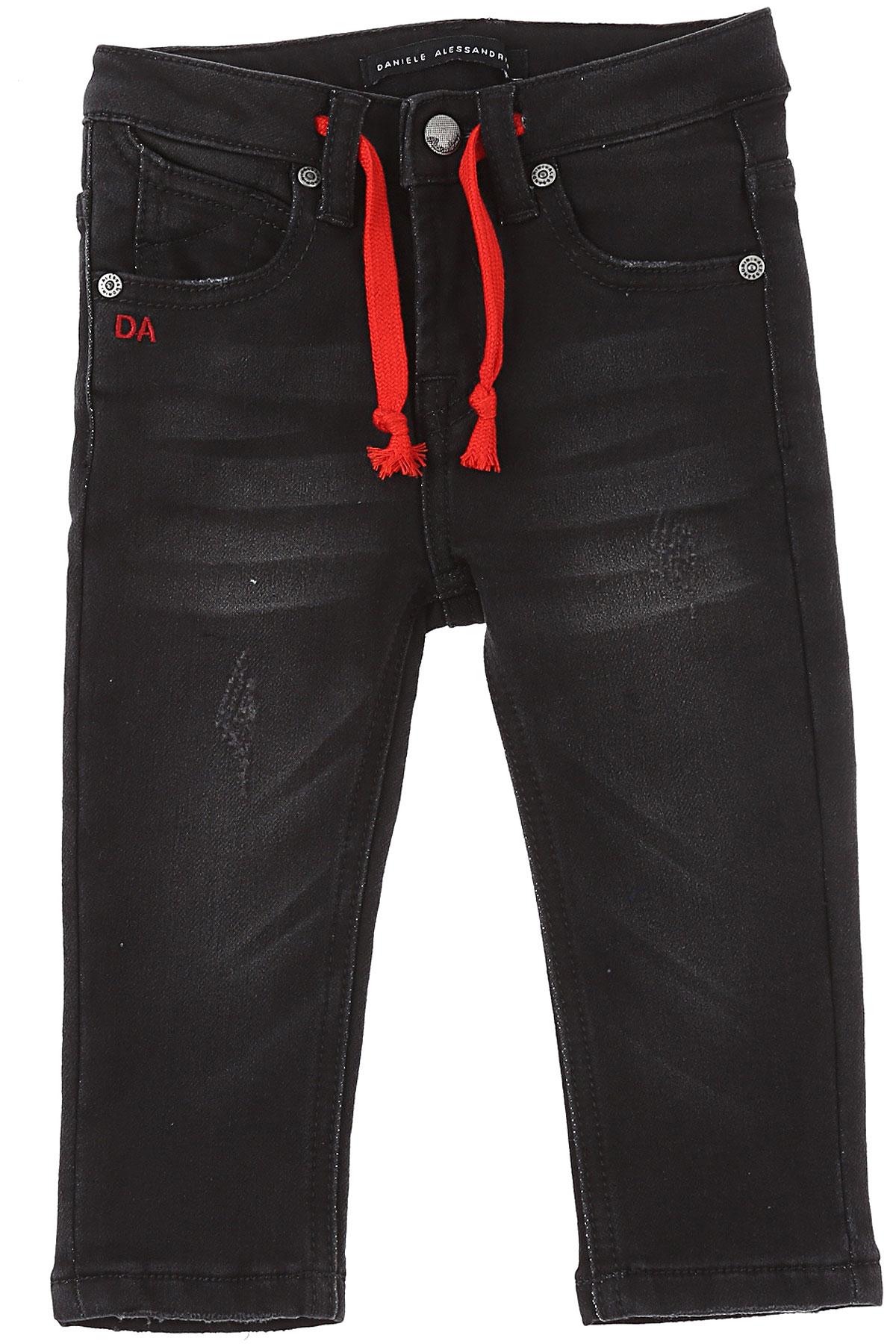 Daniele Alessandrini Baby Jeans for Boys On Sale, Black, Cotton, 2019, 18 M 6M 9 M