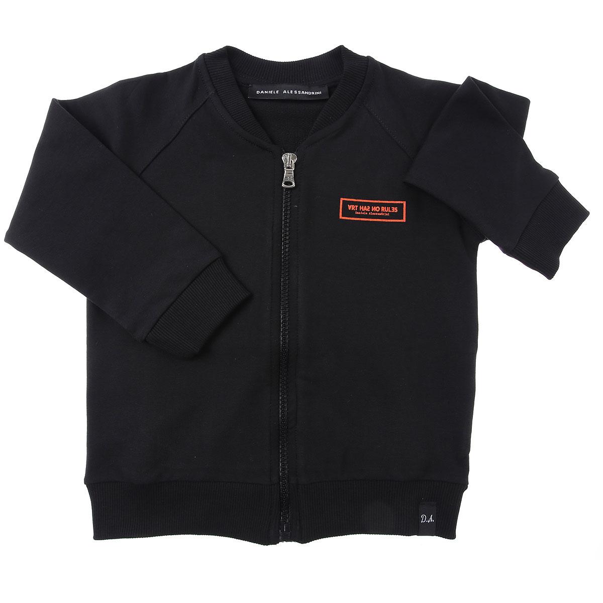 Daniele Alessandrini Baby Sweatshirts & Hoodies for Boys On Sale, Black, Cotton, 2019, 12 M 18M 2Y 3Y 4Y 9M