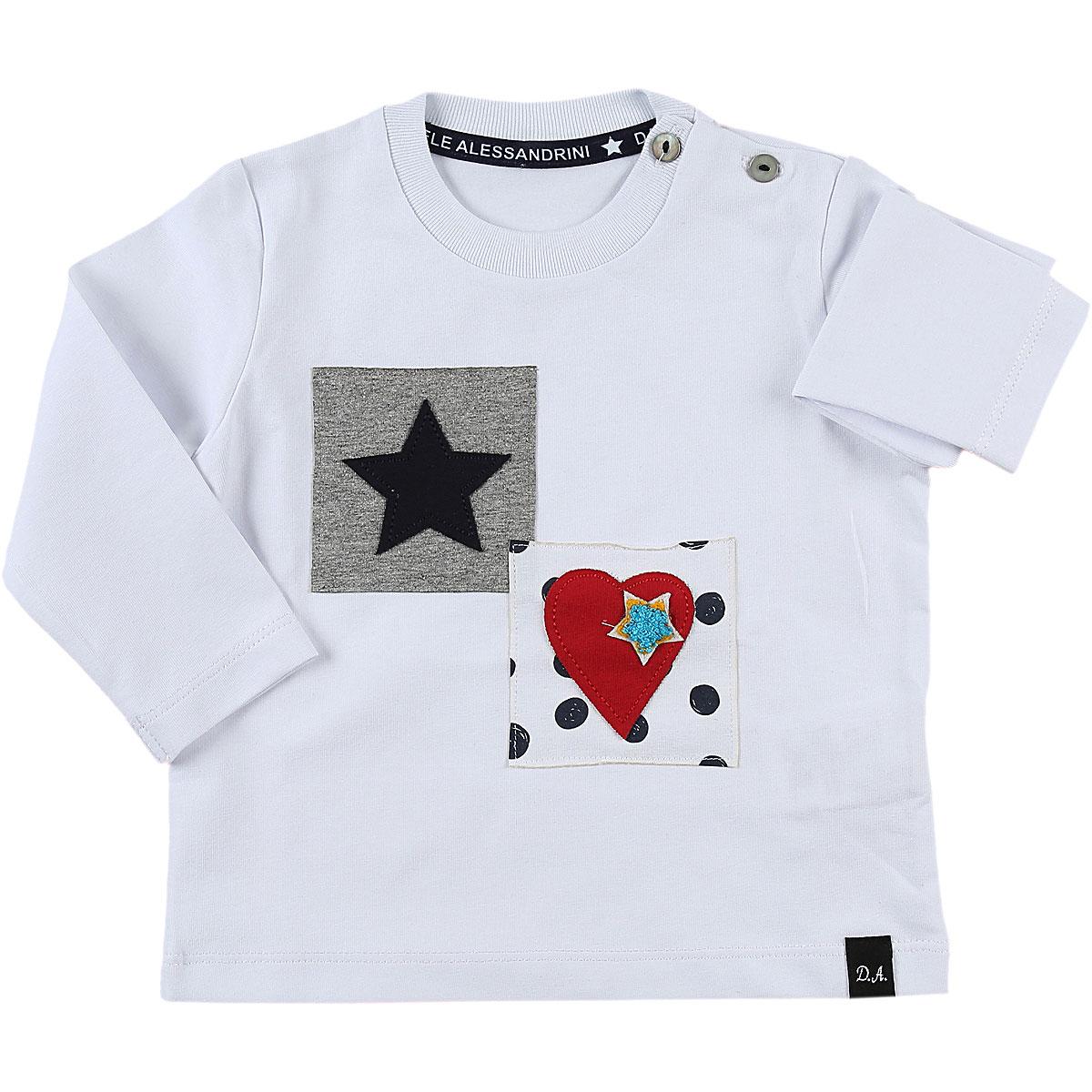 Daniele Alessandrini Baby T-Shirt for Boys On Sale, White, Cotton, 2019, 18M 9M