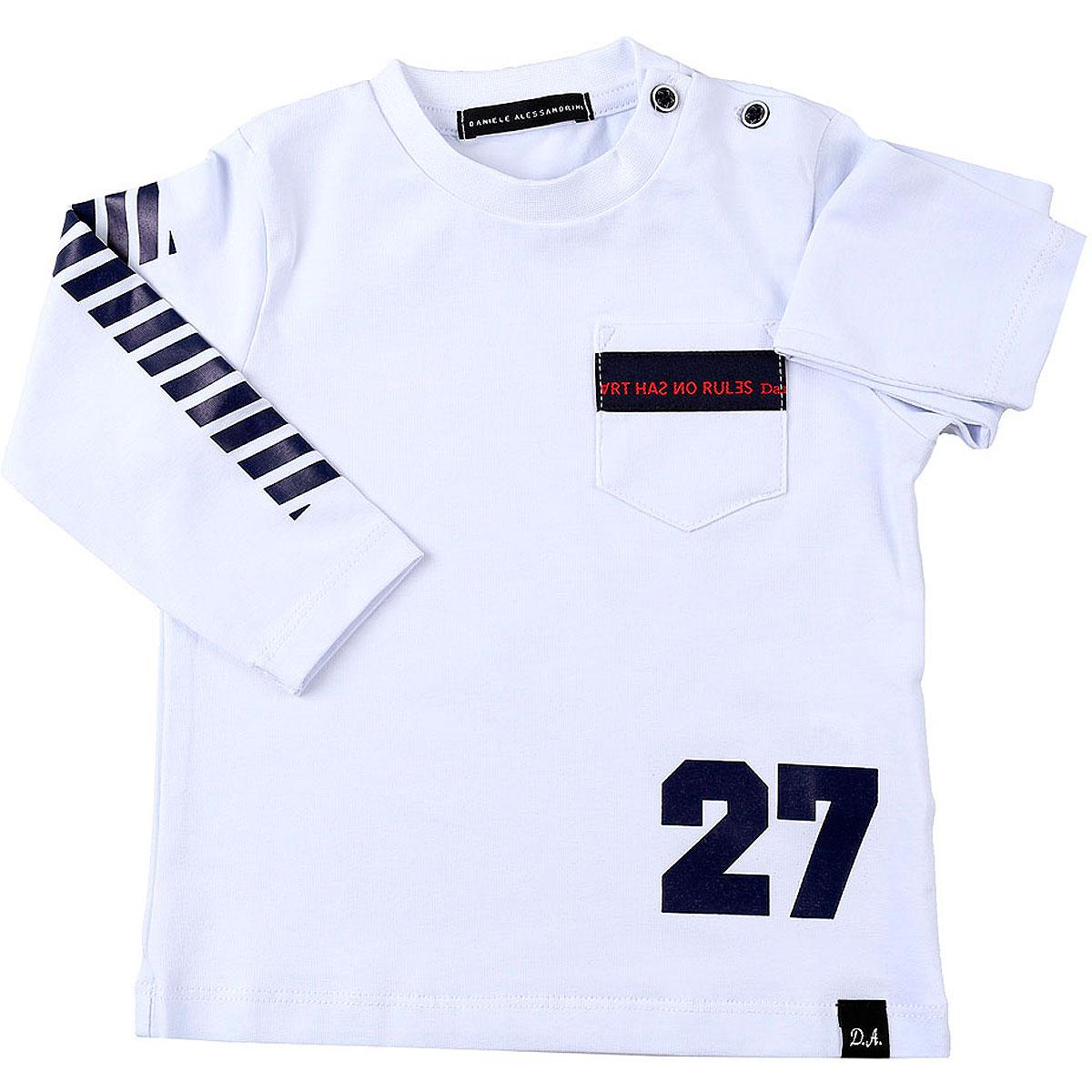 Daniele Alessandrini Baby T-Shirt for Boys On Sale, White, Cotton, 2019, 12 M 18M 2Y 3Y 6M 9M