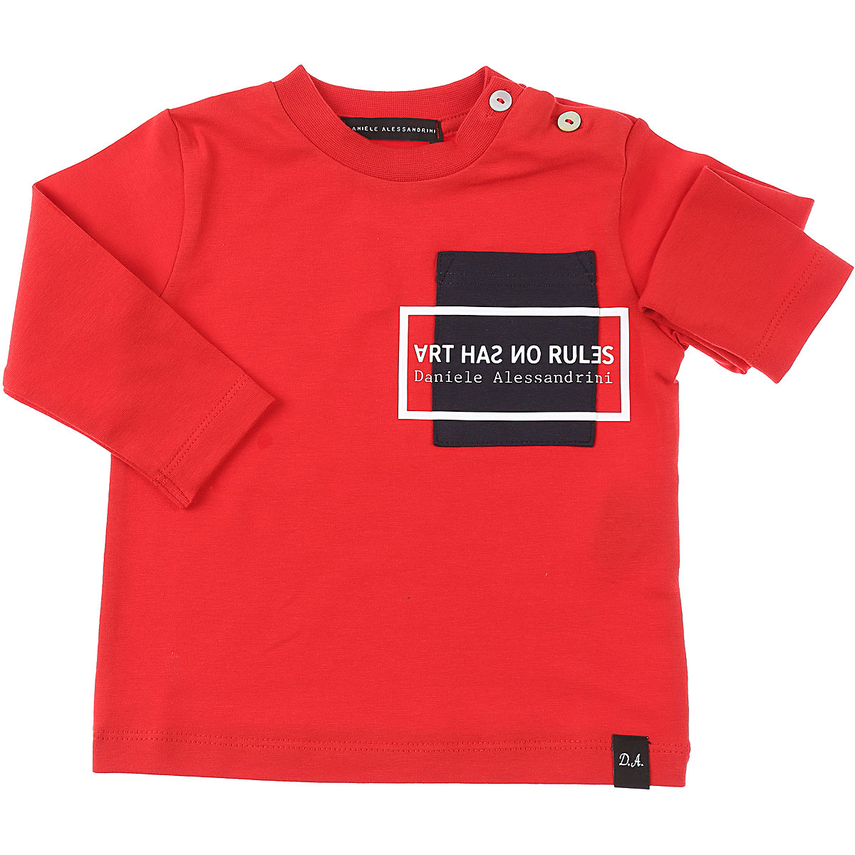 Daniele Alessandrini Baby T-Shirt for Boys On Sale, Red, Cotton, 2019, 3Y 6M 9M