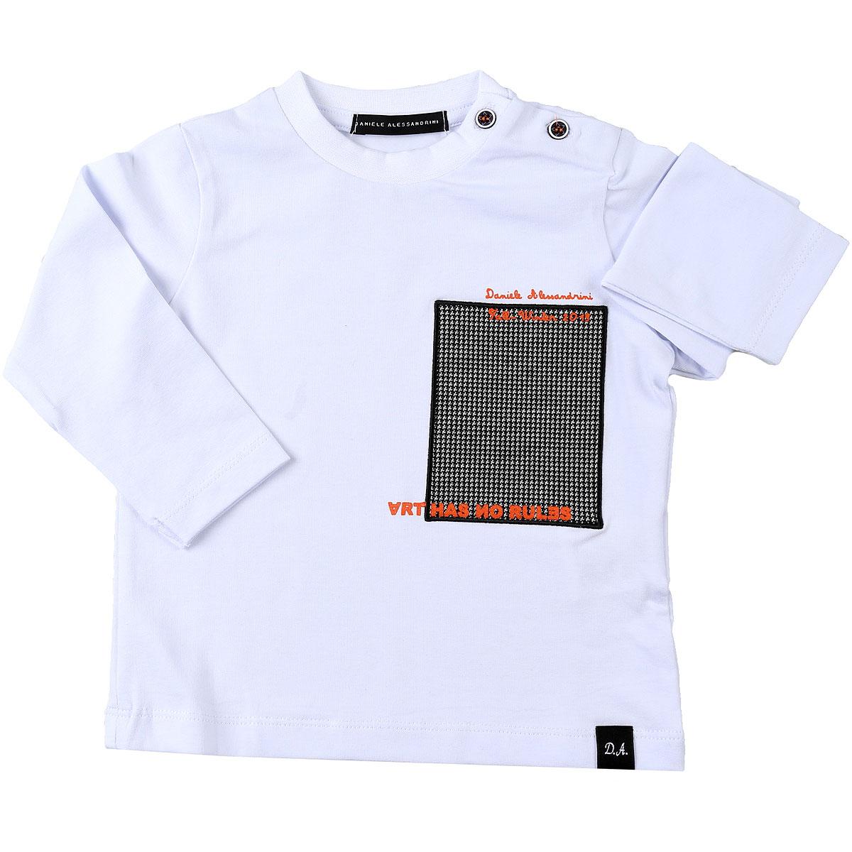 Daniele Alessandrini Baby T-Shirt for Boys On Sale, White, Cotton, 2019, 12 M 2Y 3Y