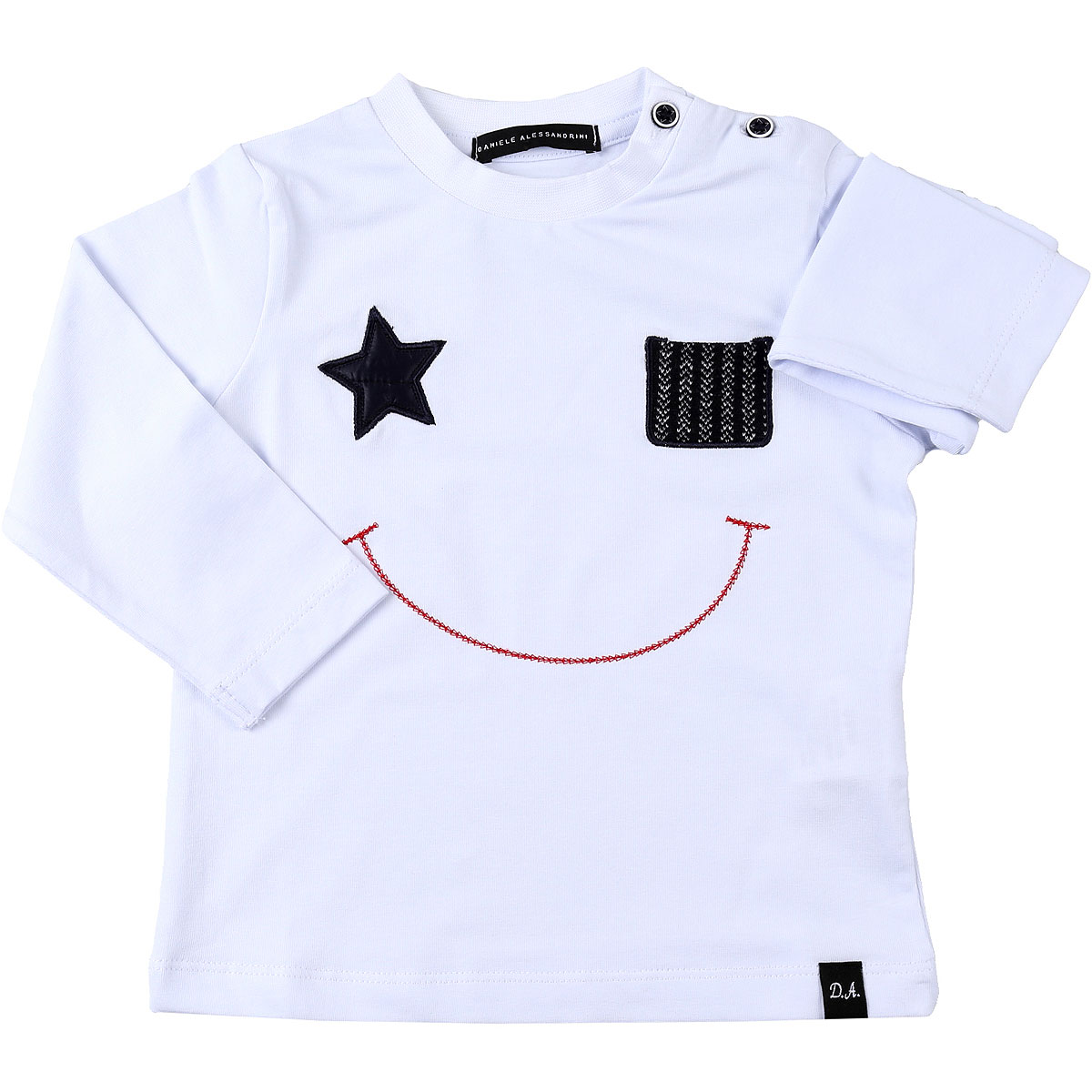 Daniele Alessandrini Baby T-Shirt for Boys On Sale, White, Cotton, 2019, 3Y 6M