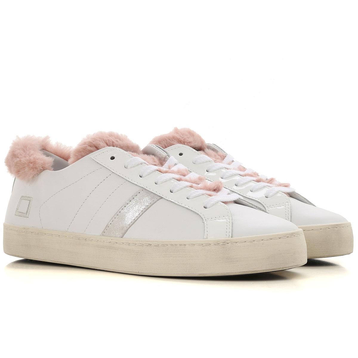 D.A.T.E. Sneakers for Women, White, Leather, 2019, US 6 5 - UK 4 - EU 37 - JP 23 US 7 5 - UK 5 - EU 38 - JP 24