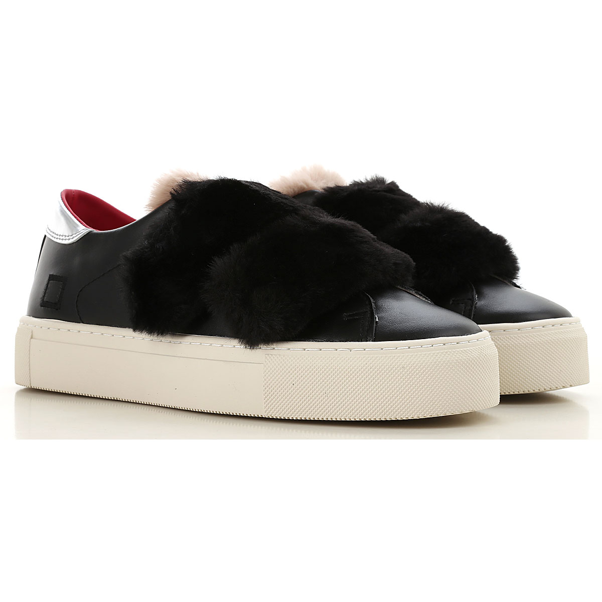 Image of D.A.T.E. Sneakers for Women, Black, Leather, 2017, US 6 - UK 3 5 - EU 36 - JP 22 5 US 8 - UK 5 5 - EU 38 5 - JP 24 5 US 6 5 - UK 4 - EU 37 - JP 23 US 7 5 - UK 5 - EU 38 - JP 24 US 9 - UK 6 5 - EU 40 - JP 25 5
