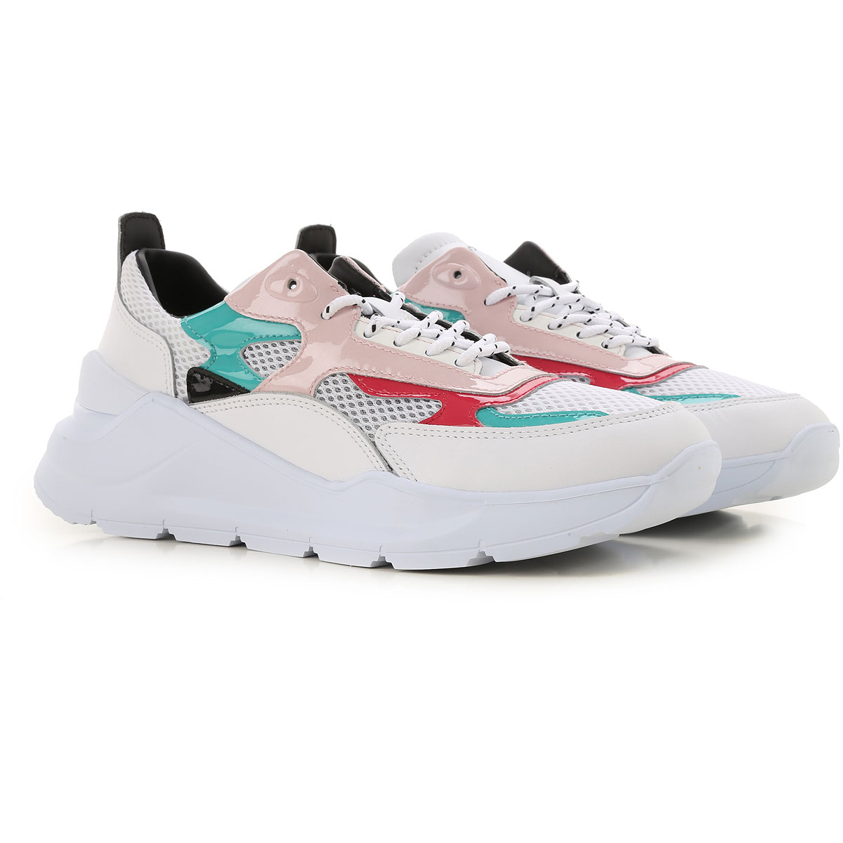 D.A.T.E. Sneakers for Women On Sale in Outlet, White, Leather, 2019, US 8.5 - UK 6 - EU 39 - JP 25 US 8 5 - UK 6 5 - EU 40 - JP 26