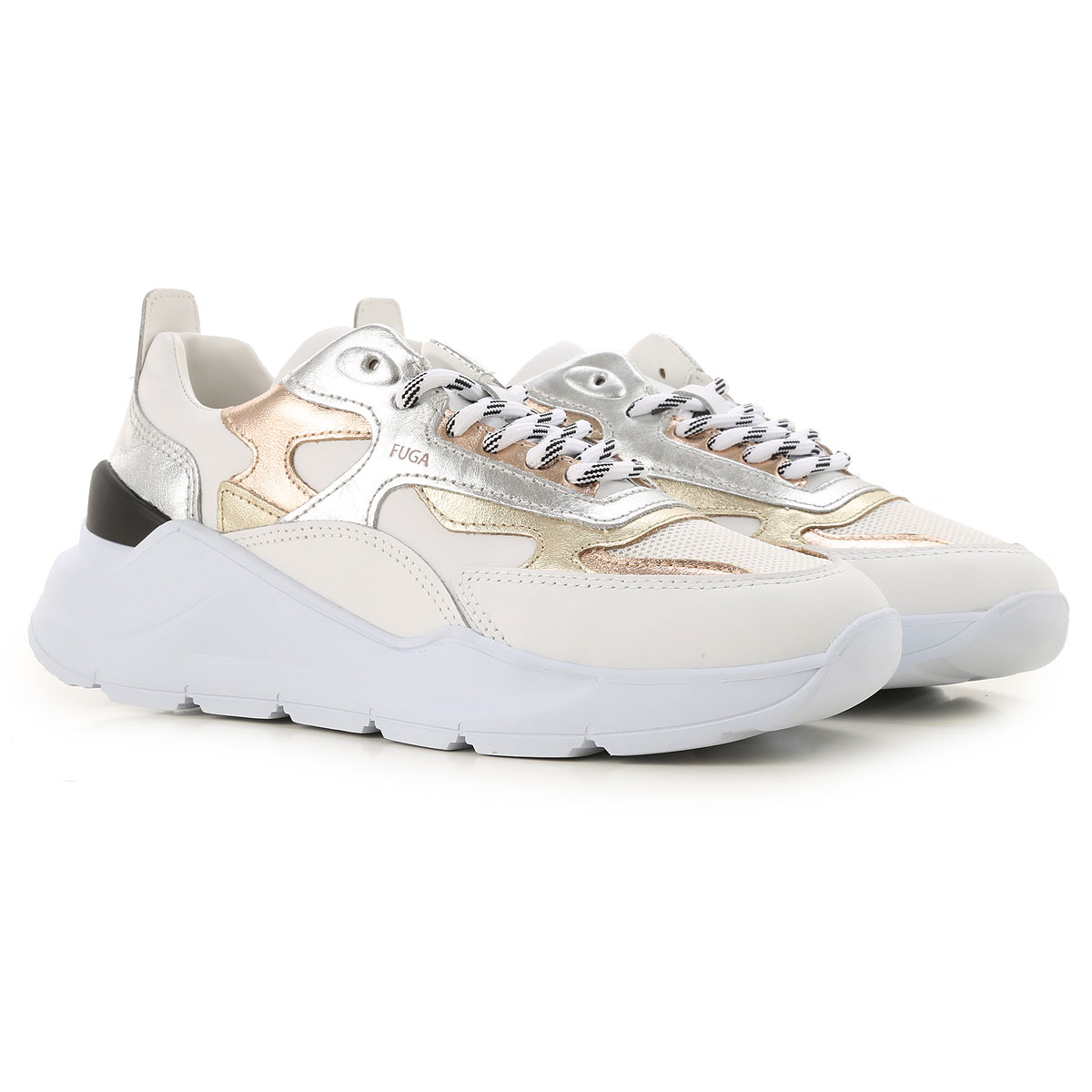 D.A.T.E. Sneakers for Women On Sale, White, Leather, 2019, US 8 5 - UK 6 - EU 39 - JP 25 US 7 5 - UK 5 - EU 38 - JP 24 US 9 - UK 6 5 - EU 40 - JP 25 5