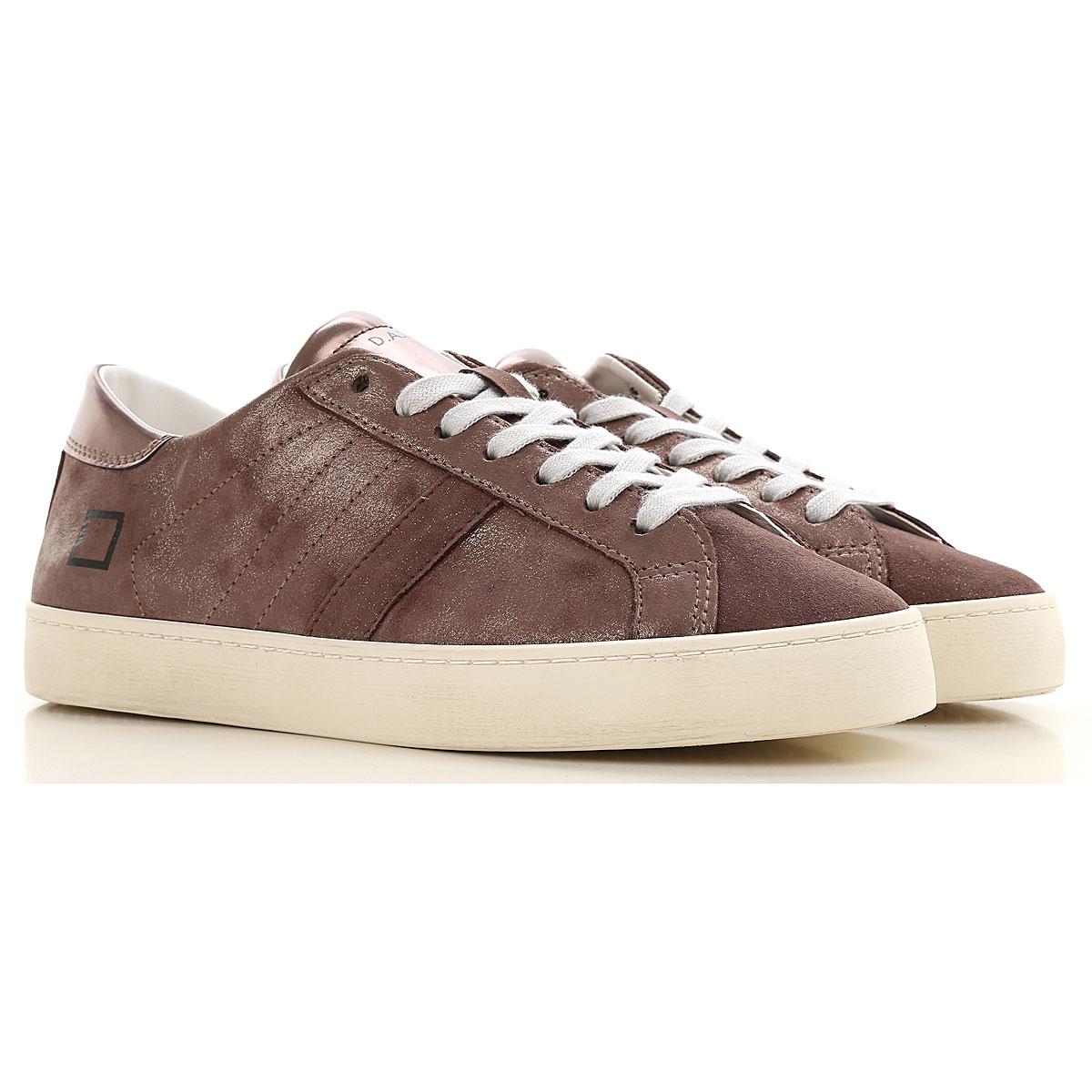 D.A.T.E. Sneakers for Women, Metal bronze, Leather, 2019, US 6 - UK 3 5 - EU 36 - JP 22 5 US 6 5 - UK 4 - EU 37 - JP 23 US 7 5 - UK 5 - EU 38 - JP 24