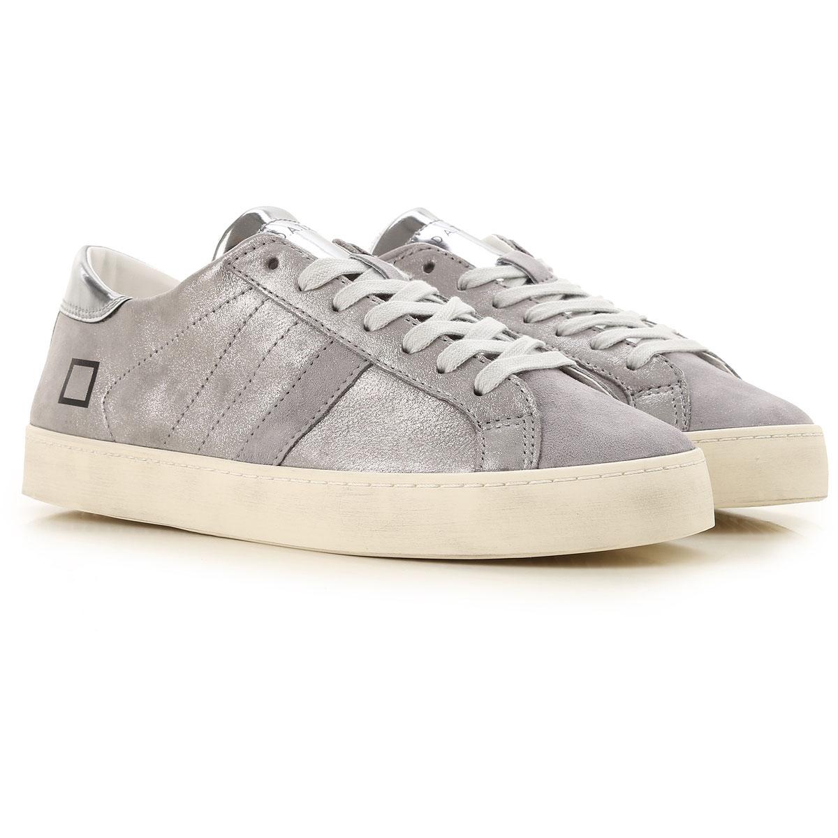 D.A.T.E. Sneakers for Women, Metal Gun, Leather, 2019, US 6 5 - UK 4 - EU 37 - JP 23 US 8 5 - UK 6 5 - EU 40 - JP 26