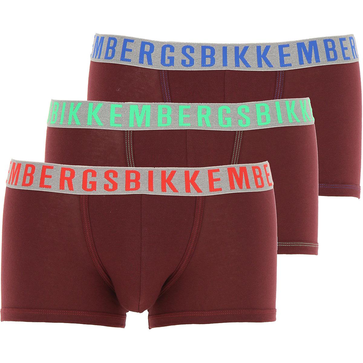 Dirk Bikkembergs Boxer Briefs for Men, Boxers On Sale in Outlet, 3 Pack, Bordeaux, Cotton, 2019, S (EU 3) M (EU 4) L (EU 5) XL (EU 6)