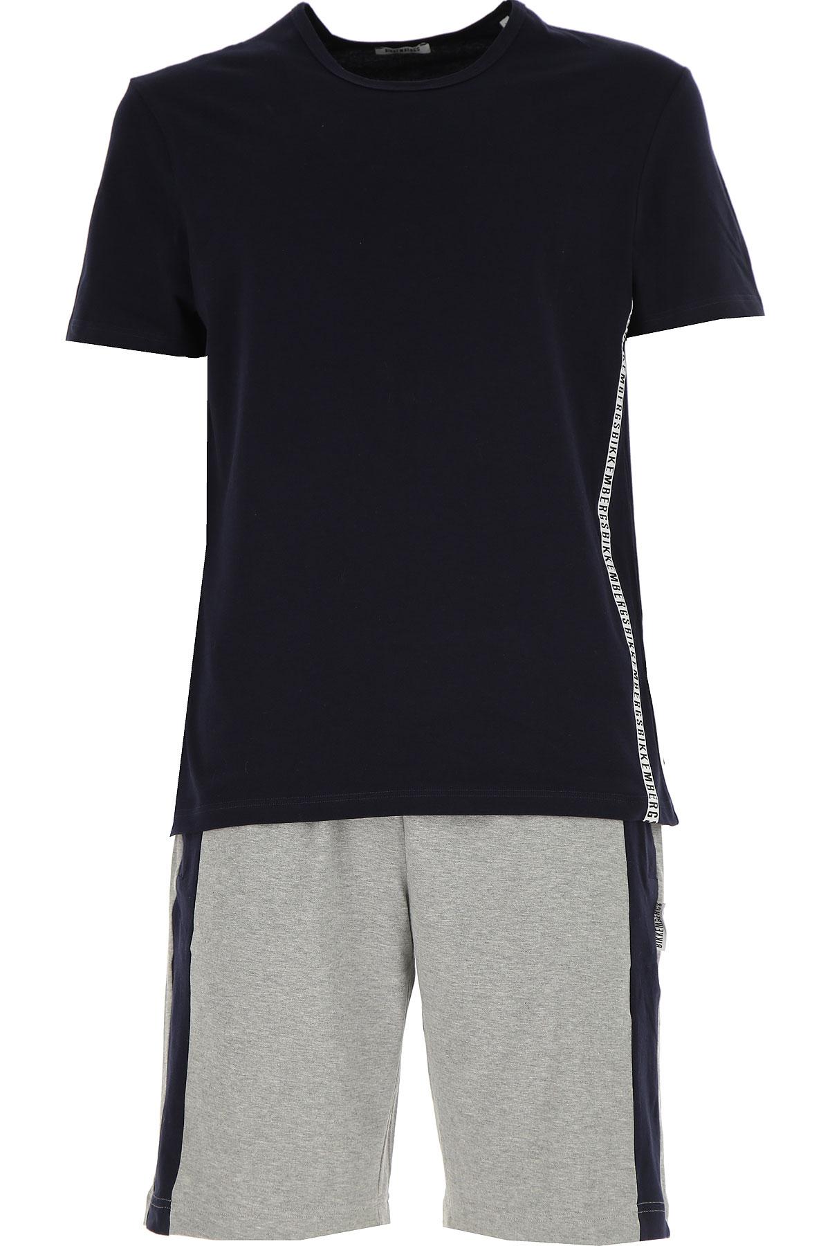Image of Dirk Bikkembergs Loungewear for Men On Sale, Blue Marine, Cotton, 2017, S (EU 3) M (EU 4)