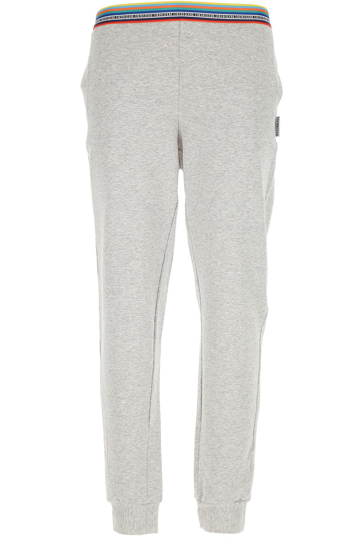 Image of Dirk Bikkembergs Loungewear for Men On Sale, Grey Melange, Cotton, 2017, S (EU 3) L (EU 5) XL (EU 6)
