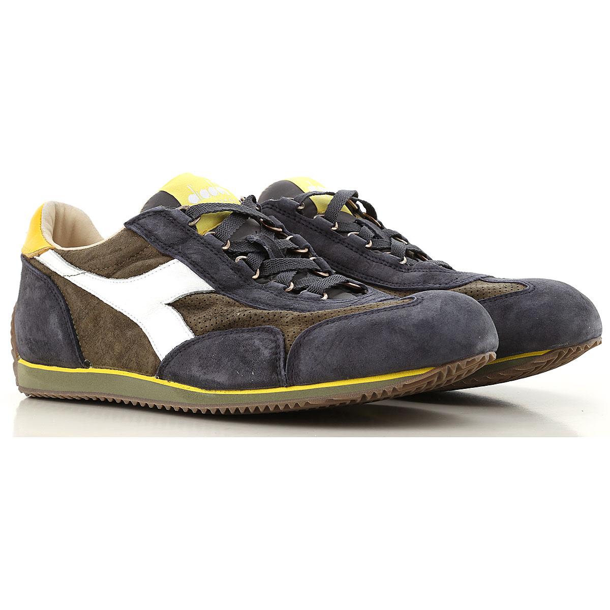 Image of Diadora Mens Shoes, Dark Blue, Suede leather, 2017, US 7 - UK 6.5 - EU 40 US 8 - UK 7.5 - EU 41 US 8 1/2 - UK 8 - EU 42 US 9.5 - UK 9 - EU 43 US 10 - UK 9 1/2 - EU 44