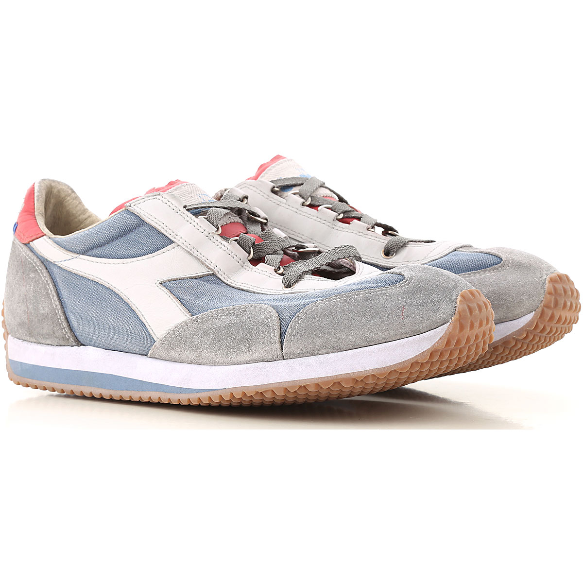 Diadora Sneakers for Men On Sale, Bering Sea, Suede leather, 2019, 7 8