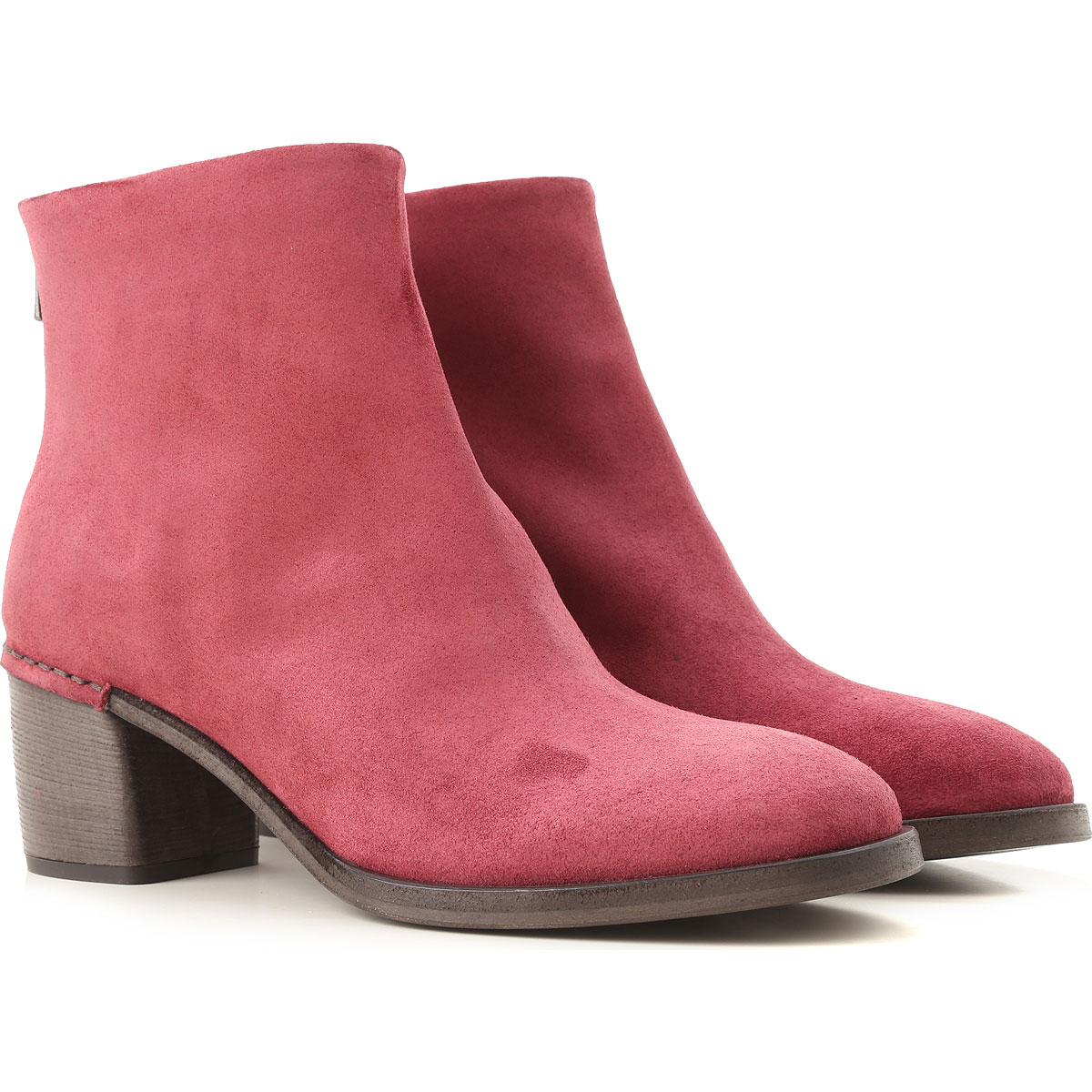 Image of Roberto Del Carlo Boots for Women, Booties, Burgundy, Suede leather, 2017, 6 7 8
