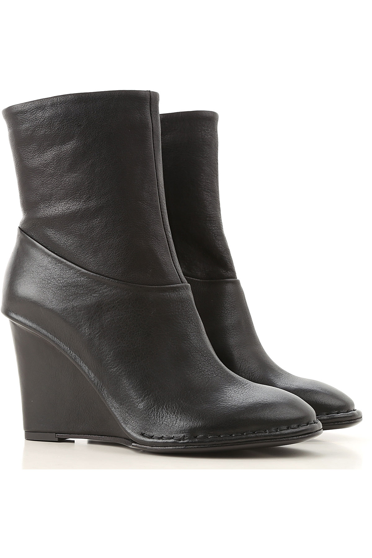 Image of Roberto Del Carlo Boots for Women, Booties, Black, Leather, 2017, 10 7 8 9