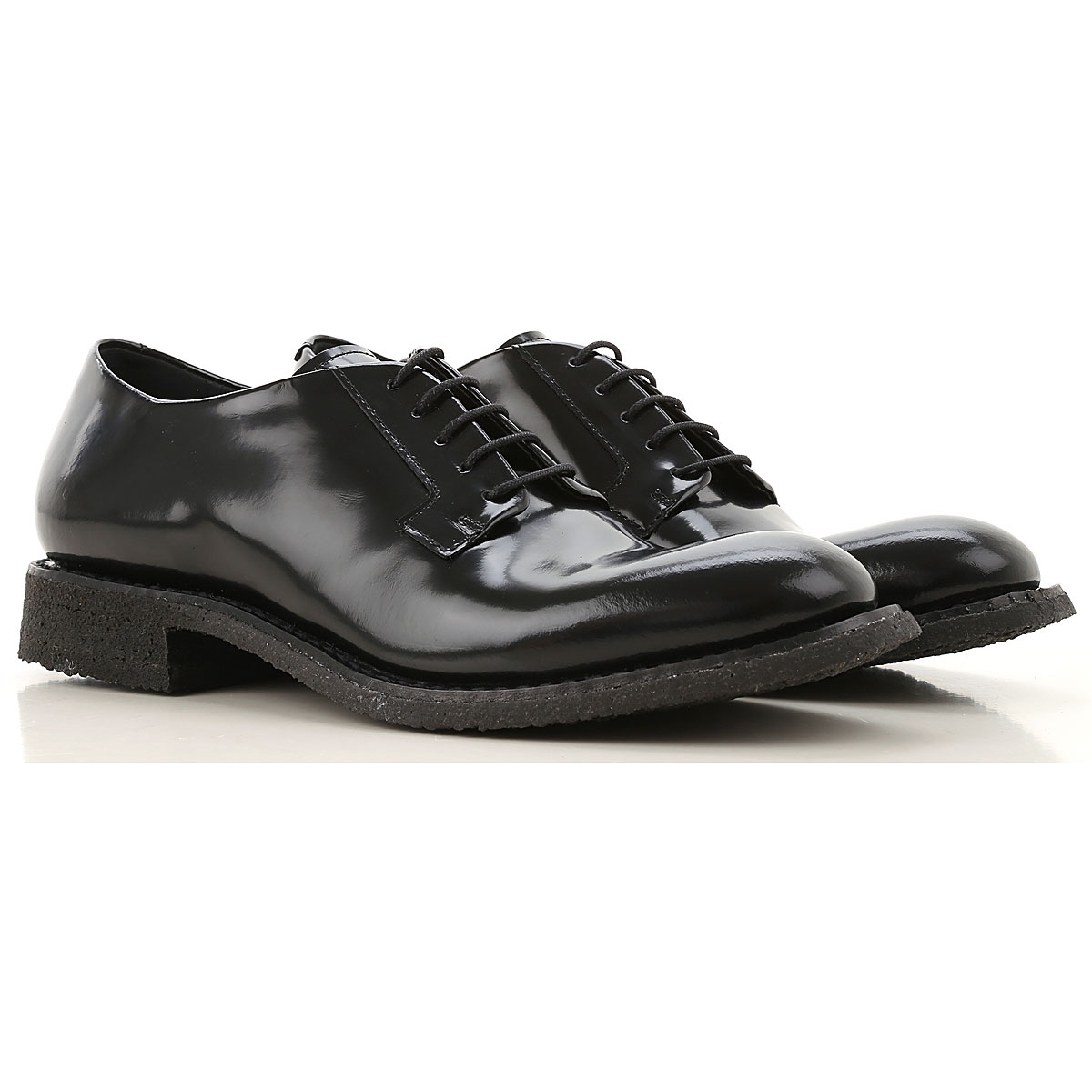 Roberto Del Carlo Lace Up Shoes for Men Oxfords, Derbies and Brogues On Sale, Black, Polished, 2019, 10 7 8 8.5 9