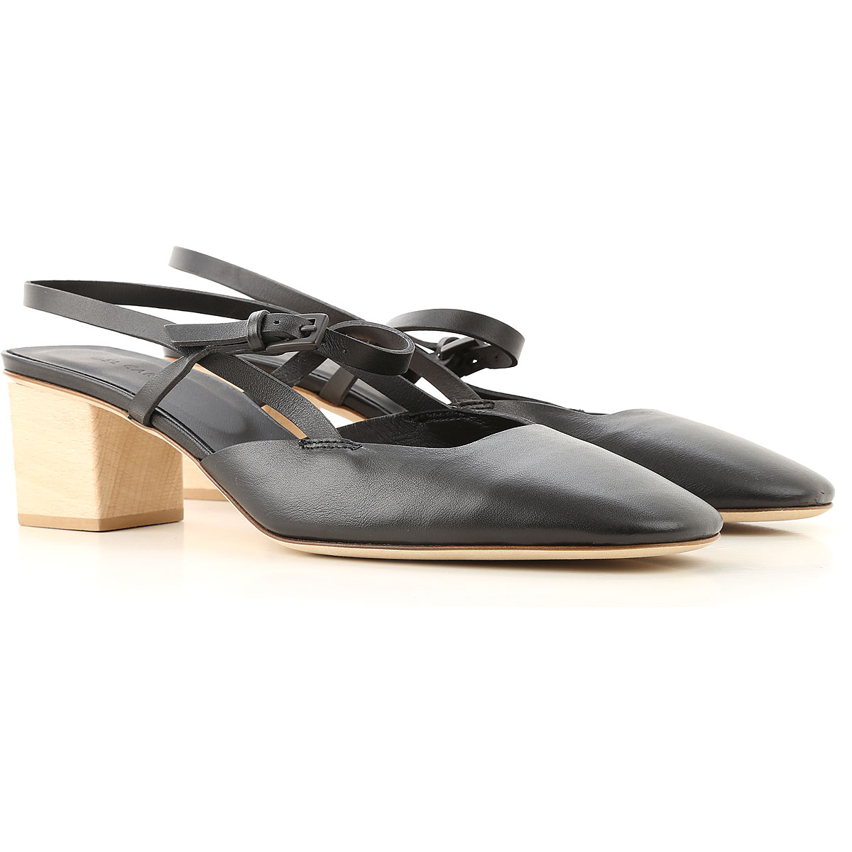 Roberto Del Carlo Sandals Heeled Womens On Sale, Black, Leather, 2019, 10 8 8.5