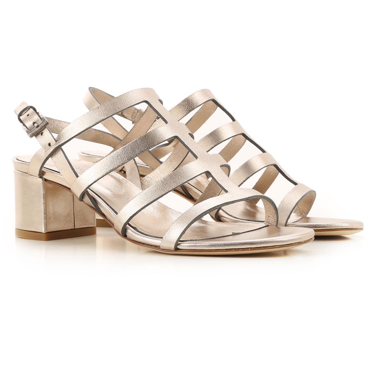 Roberto Del Carlo Sandals for Women On Sale, pirite, Metallic Leather, 2019, 6 7 8.5