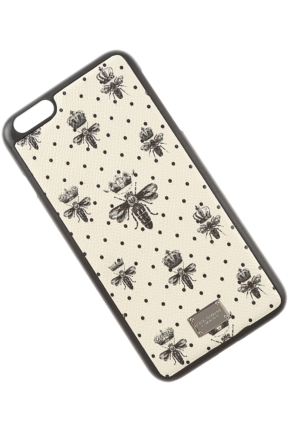 Image of Dolce & Gabbana iPhone Cases On Sale in Outlet, Iphone 6 Plus Case, Cream, Leather, 2017