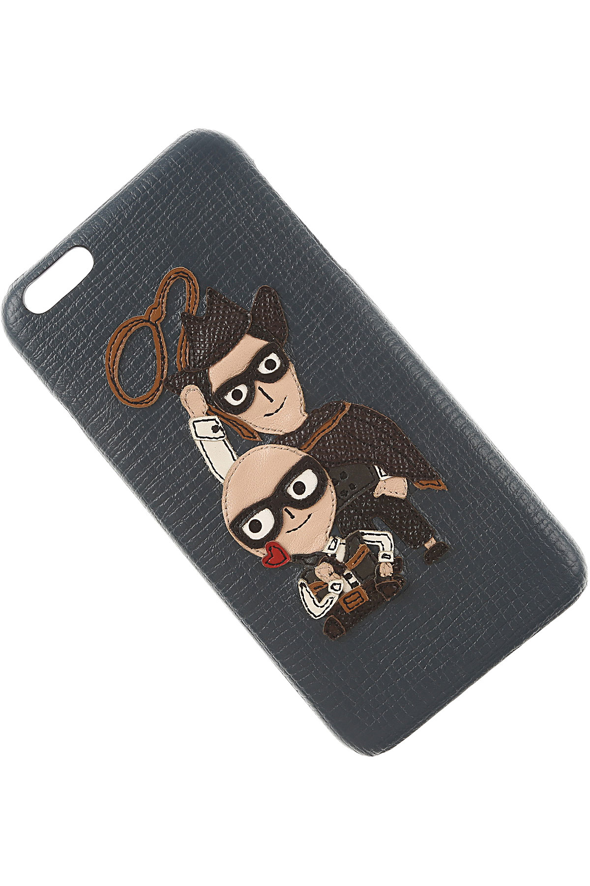 Image of Dolce & Gabbana iPhone Cases On Sale in Outlet, Iphone 6 Plus Case, Blue Navy, Leather, 2017
