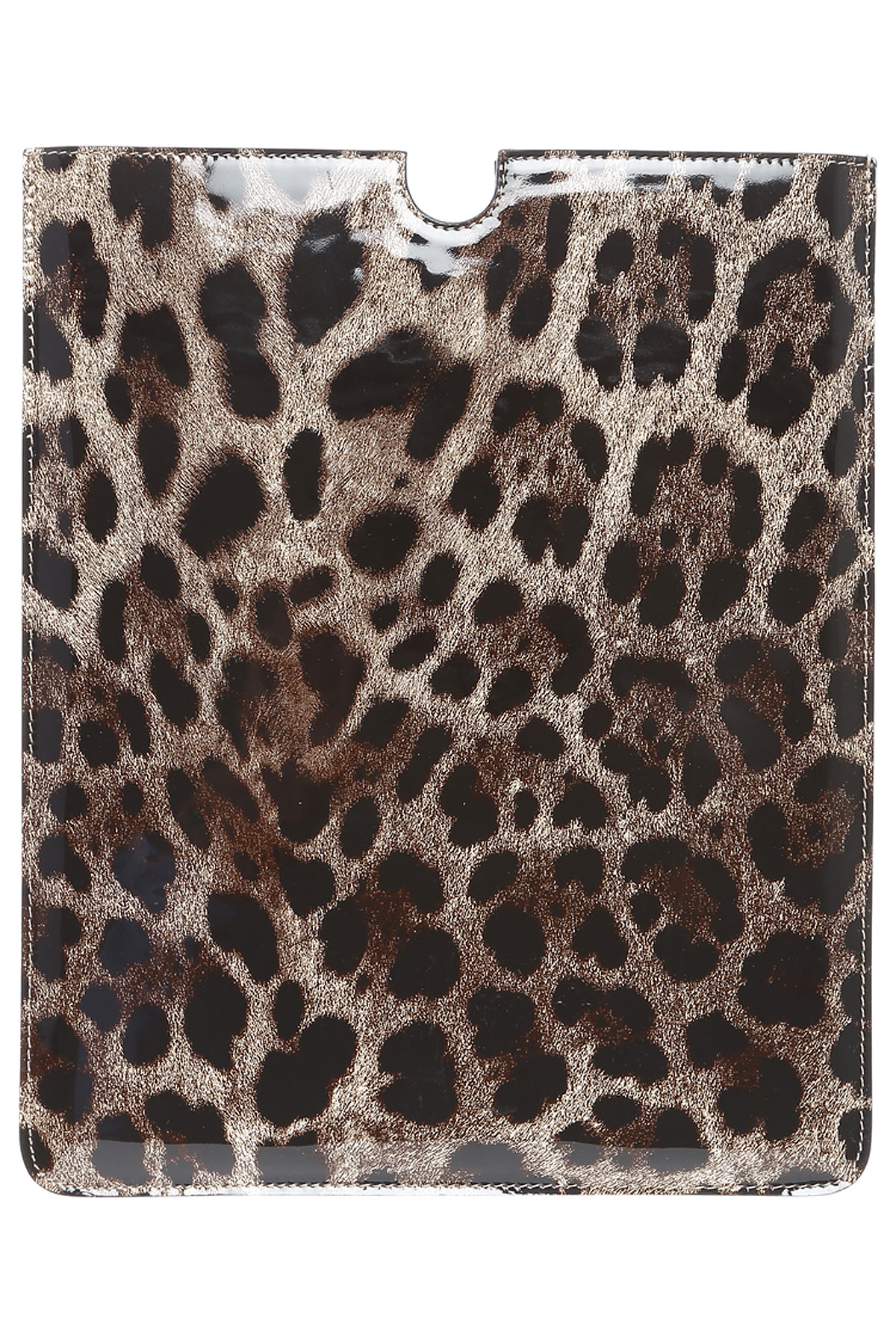 Image of Dolce & Gabbana iPad On Sale in Outlet, Leopard, Patent Leather, 2017