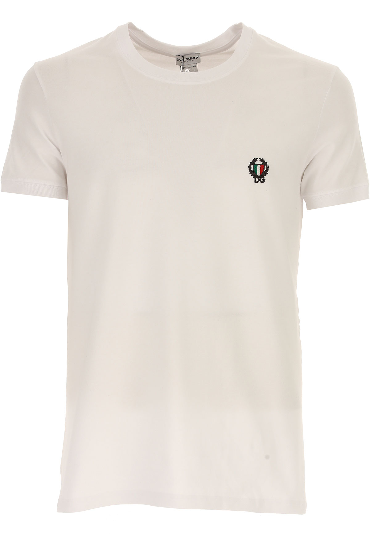 Image of Dolce & Gabbana T-Shirt for Men, White, Cotton, 2017, S (EU 3) M (EU 4) L (EU 5) XL (EU 6) XXL (EU 7)