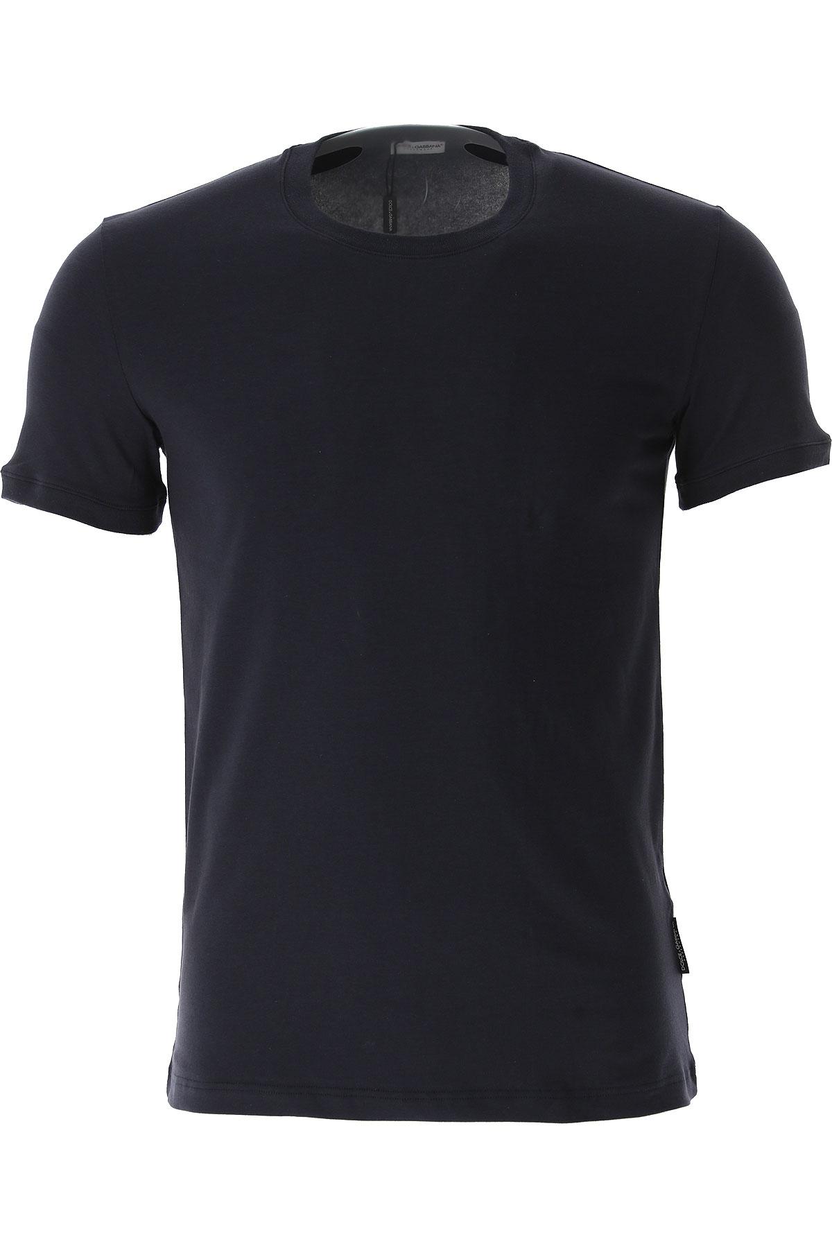Image of Dolce & Gabbana T-Shirt for Men, Blue, Cotton, 2017, S (EU 3) M (EU 4)