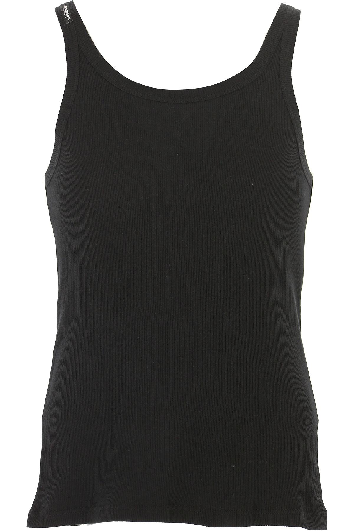 Image of Dolce & Gabbana Tank Top for Men, Black, Cotton, 2017, M (EU 4) L (EU 5)