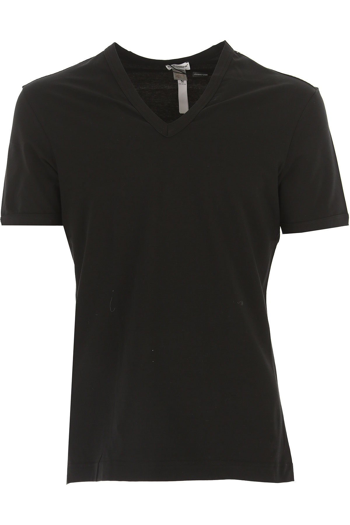 Image of Dolce & Gabbana T-Shirt for Men On Sale in Outlet, Black, Pima Cotton, 2017, S (EU 3) M (EU 4)