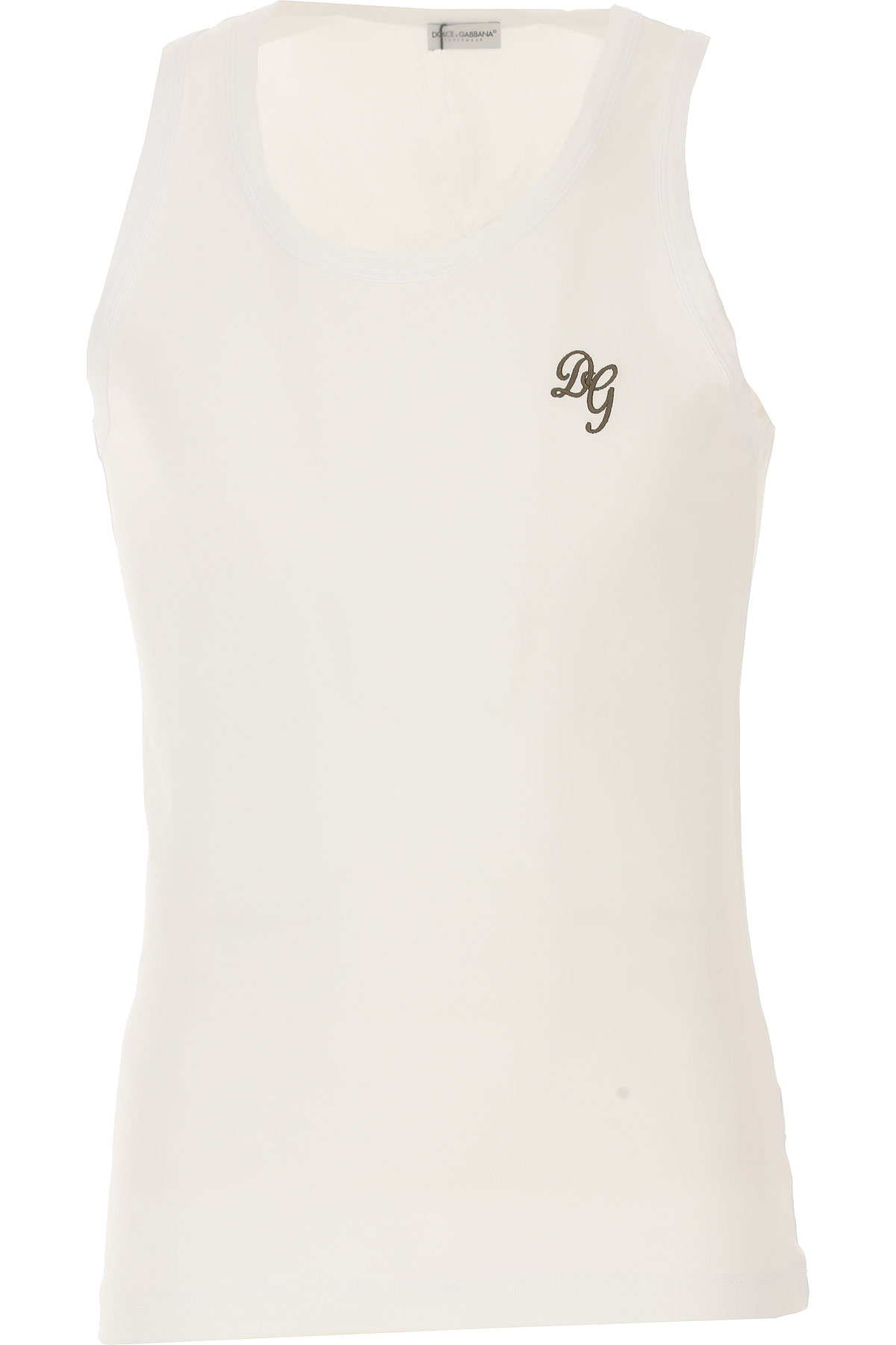 Image of Dolce & Gabbana Tank Top for Men, White, Cotton, 2017, S (EU 3) M (EU 4) L (EU 5) XL (EU 6)