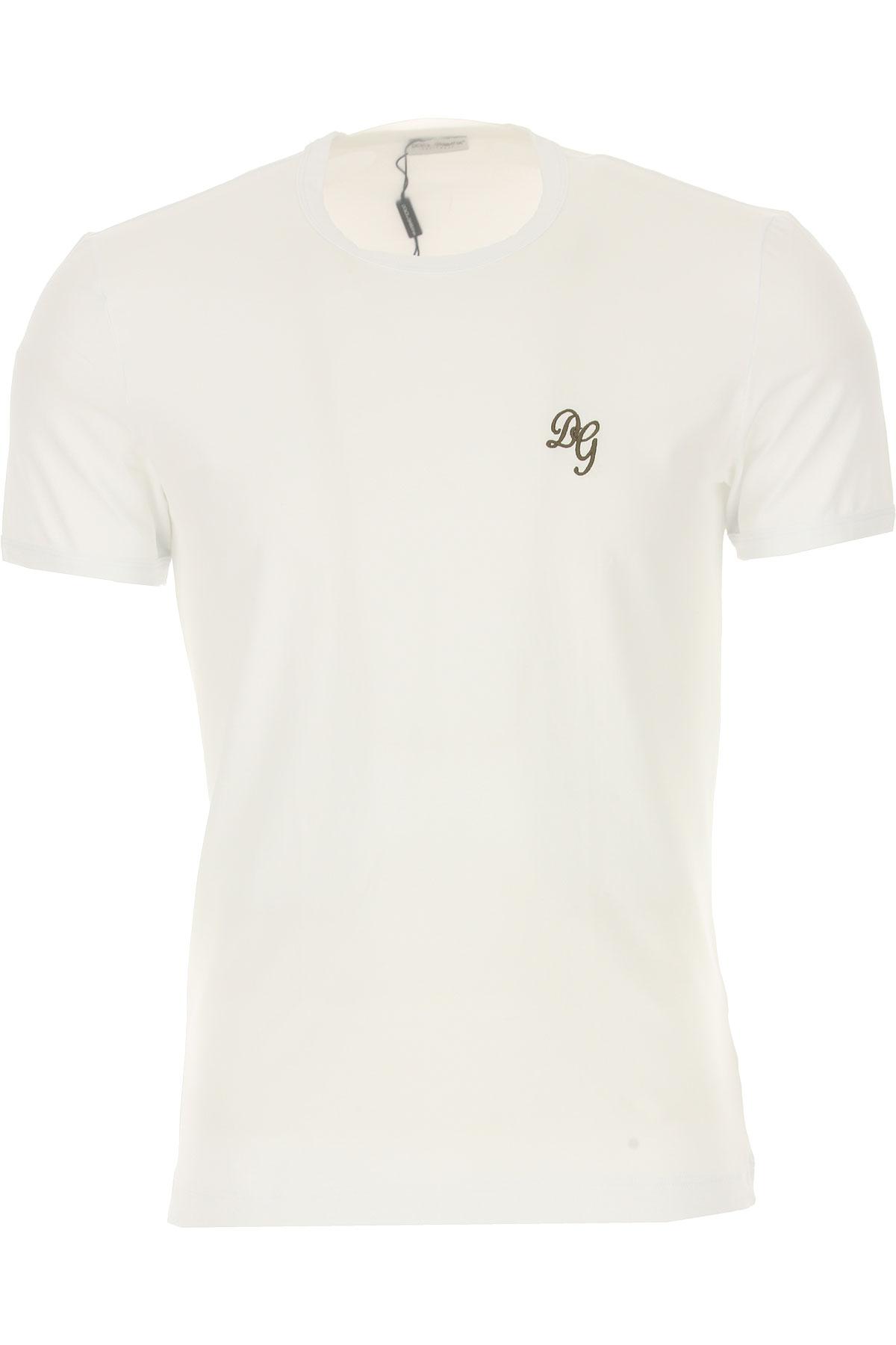 Image of Dolce & Gabbana T-Shirt for Men, White, Cotton, 2017, S (EU 3) M (EU 4) L (EU 5) XL (EU 6)