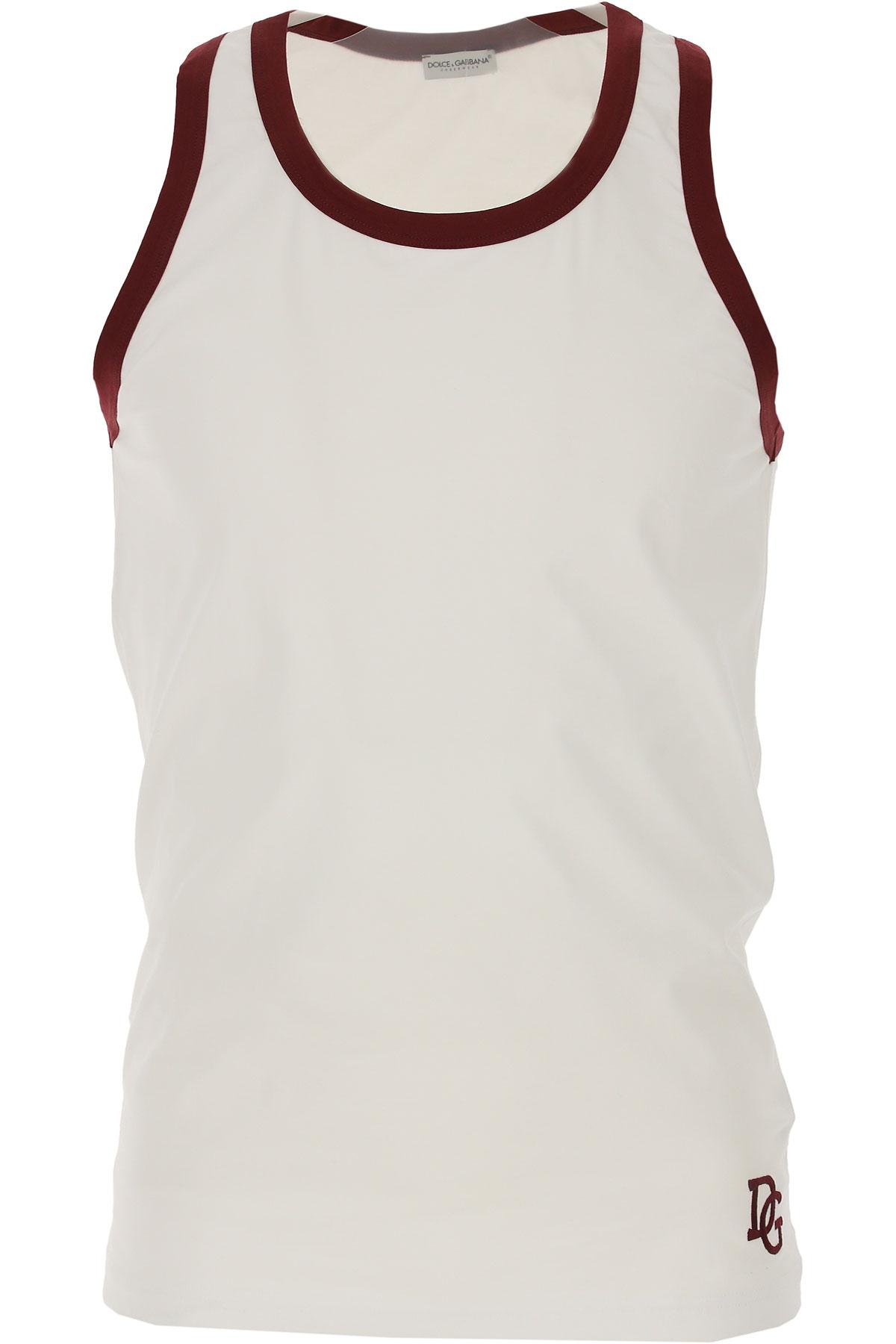 Image of Dolce & Gabbana Tank Top for Men, White, Cotton, 2017, M (EU 4) L (EU 5) XL (EU 6)