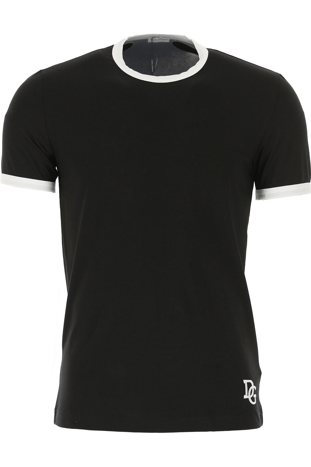 Image of Dolce & Gabbana T-Shirt for Men, Black, Cotton, 2017, S (EU 3) M (EU 4) L (EU 5) XL (EU 6) XXL (EU 7)