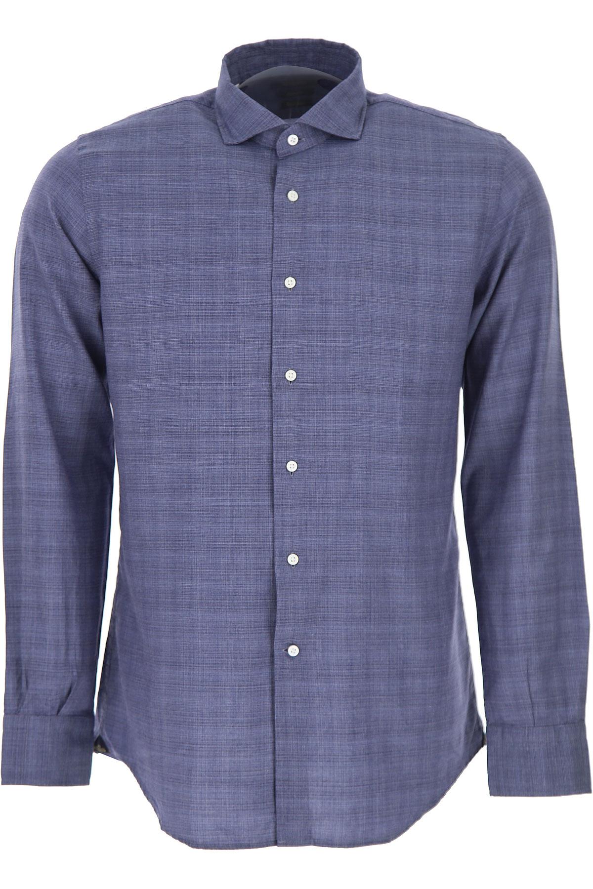 Del Siena Shirt for Men On Sale, Denim, Cotton, 2019, 15 15.5 15.75 16 16.5 17 17.5