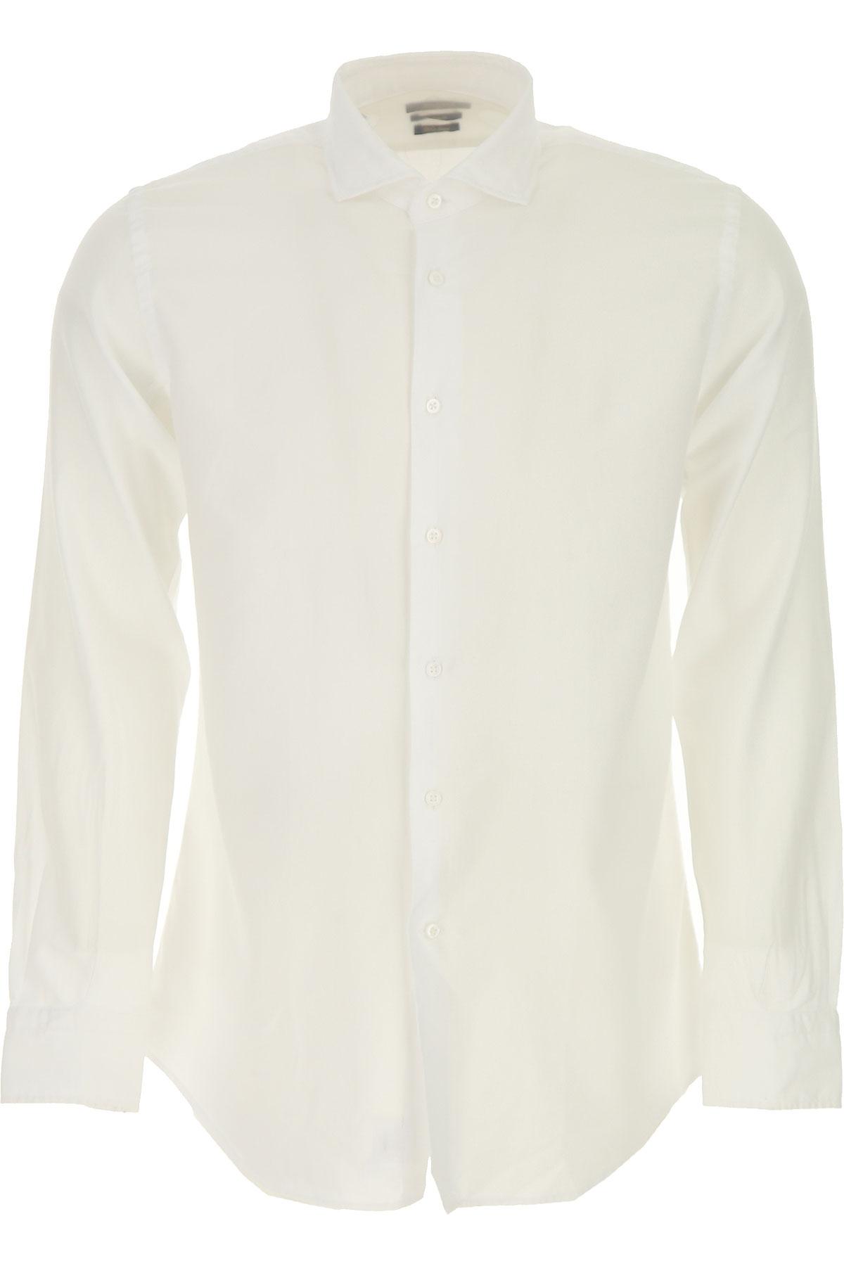 Del Siena Shirt for Men On Sale, White, Cotton, 2019, 15.5 15.75 16.5 17 17.5
