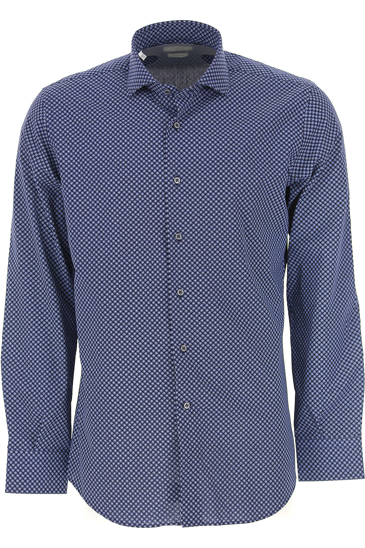 Image of Del Siena Shirt for Men, Blue, Cotton, 2017, 15.75 16 17 17.5