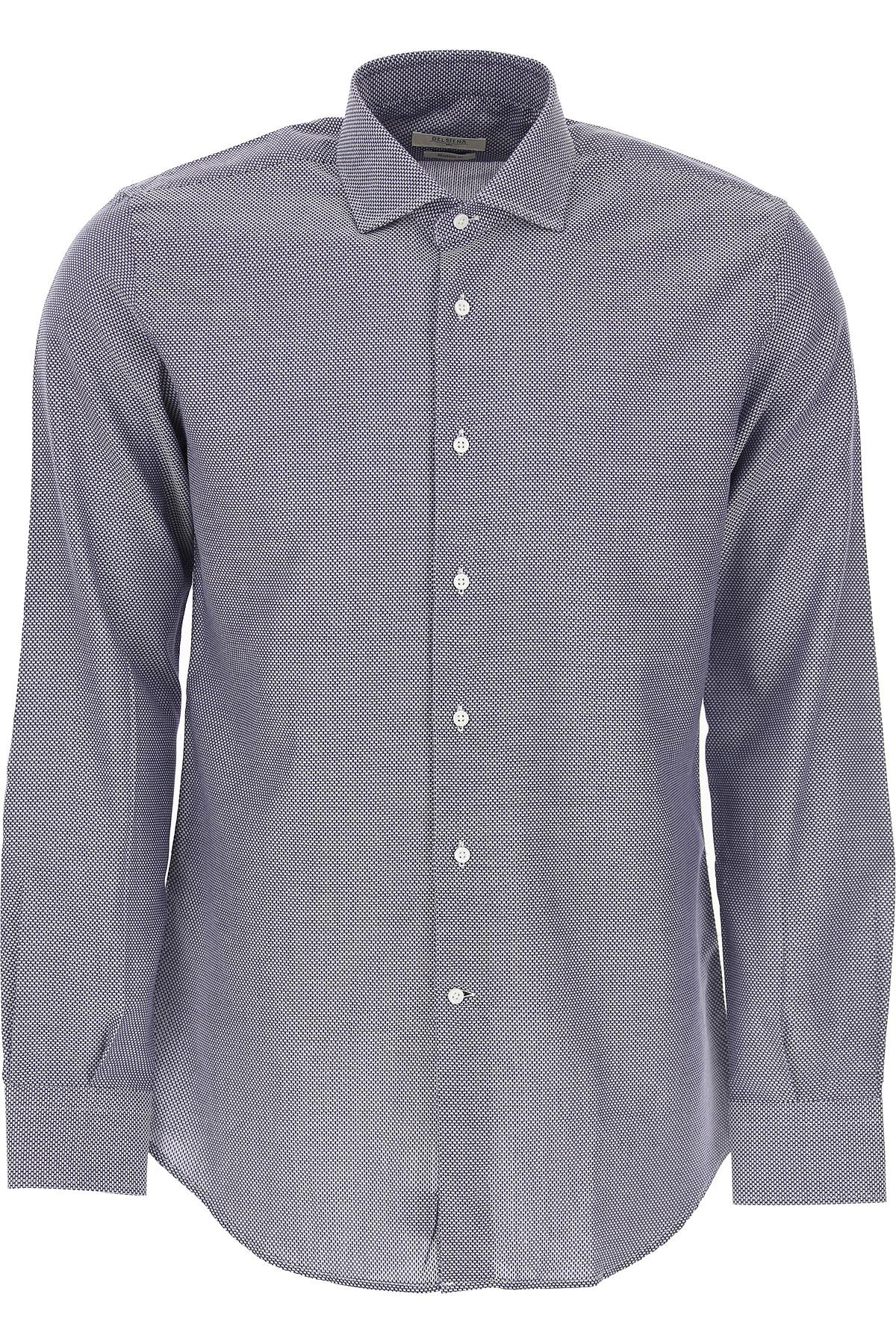 Del Siena Shirt for Men On Sale, Blue, Cotton, 2019, 15 15.75 16 16.5 17