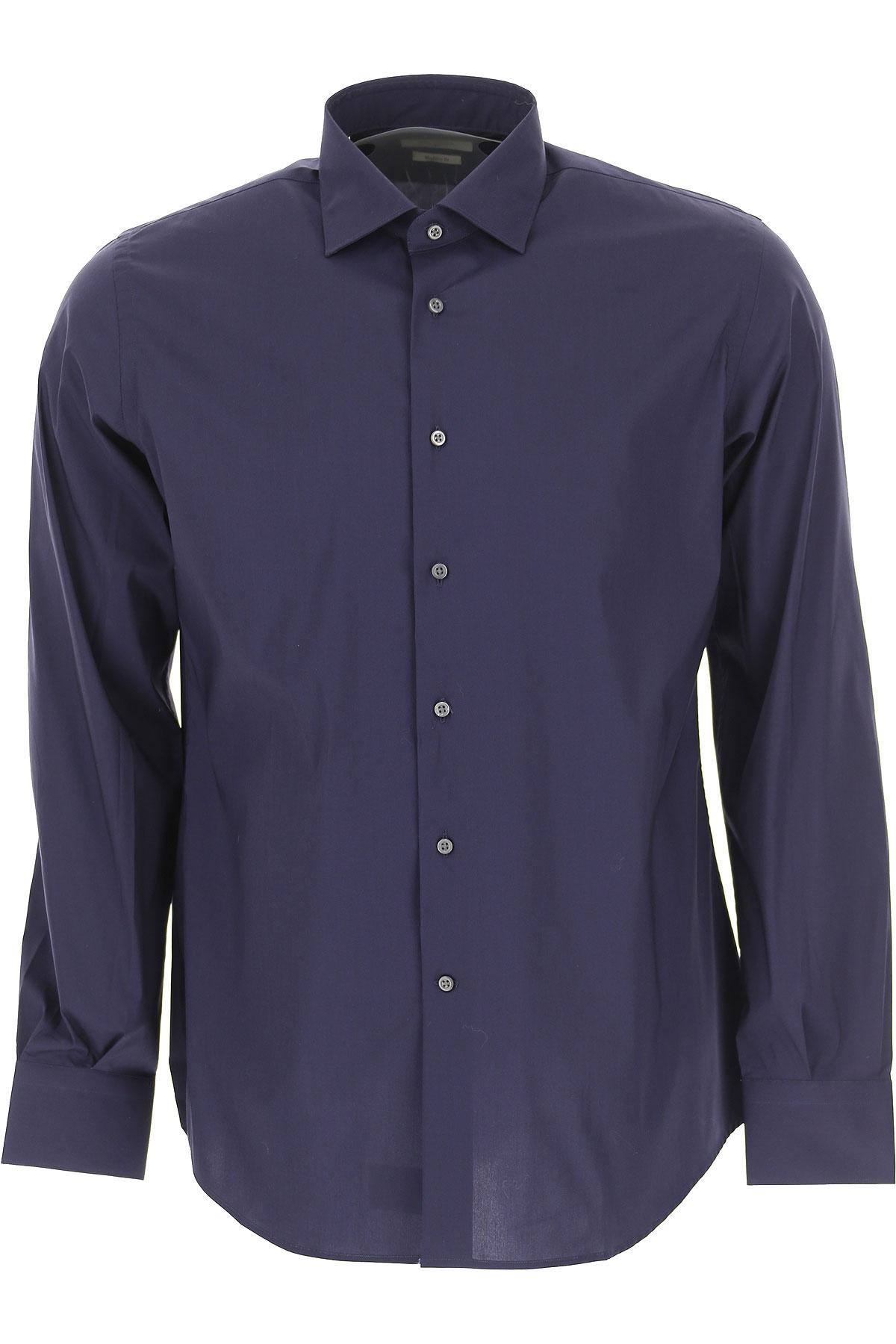 Del Siena Shirt for Men On Sale, Midnight Blue, Cotton, 2019, 15.5 15.75 17 17.5